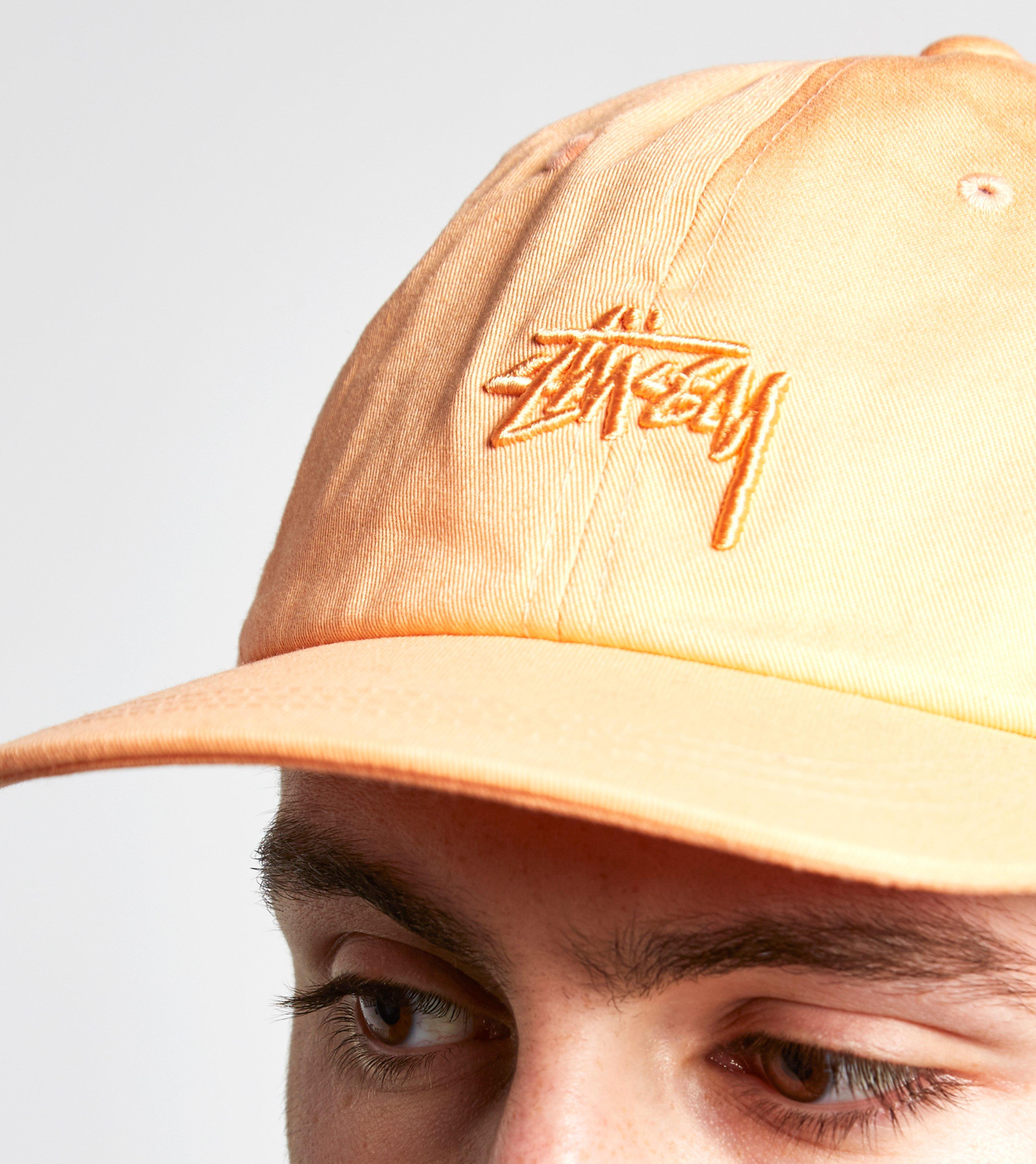 f94c025fca7 Stussy Tonal Stock Low Strapback Cap in Orange for Men - Lyst