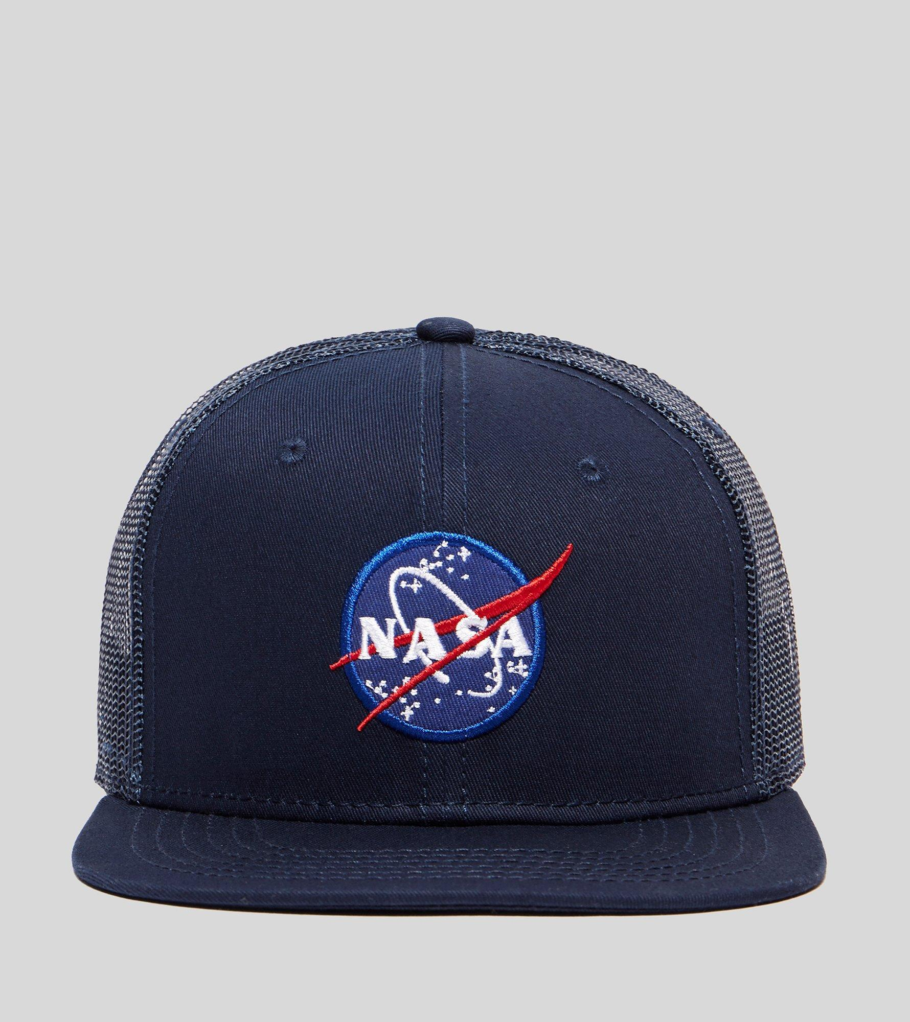 265e04caf8a Lyst - Alpha Industries Nasa Trucker Cap in Blue for Men