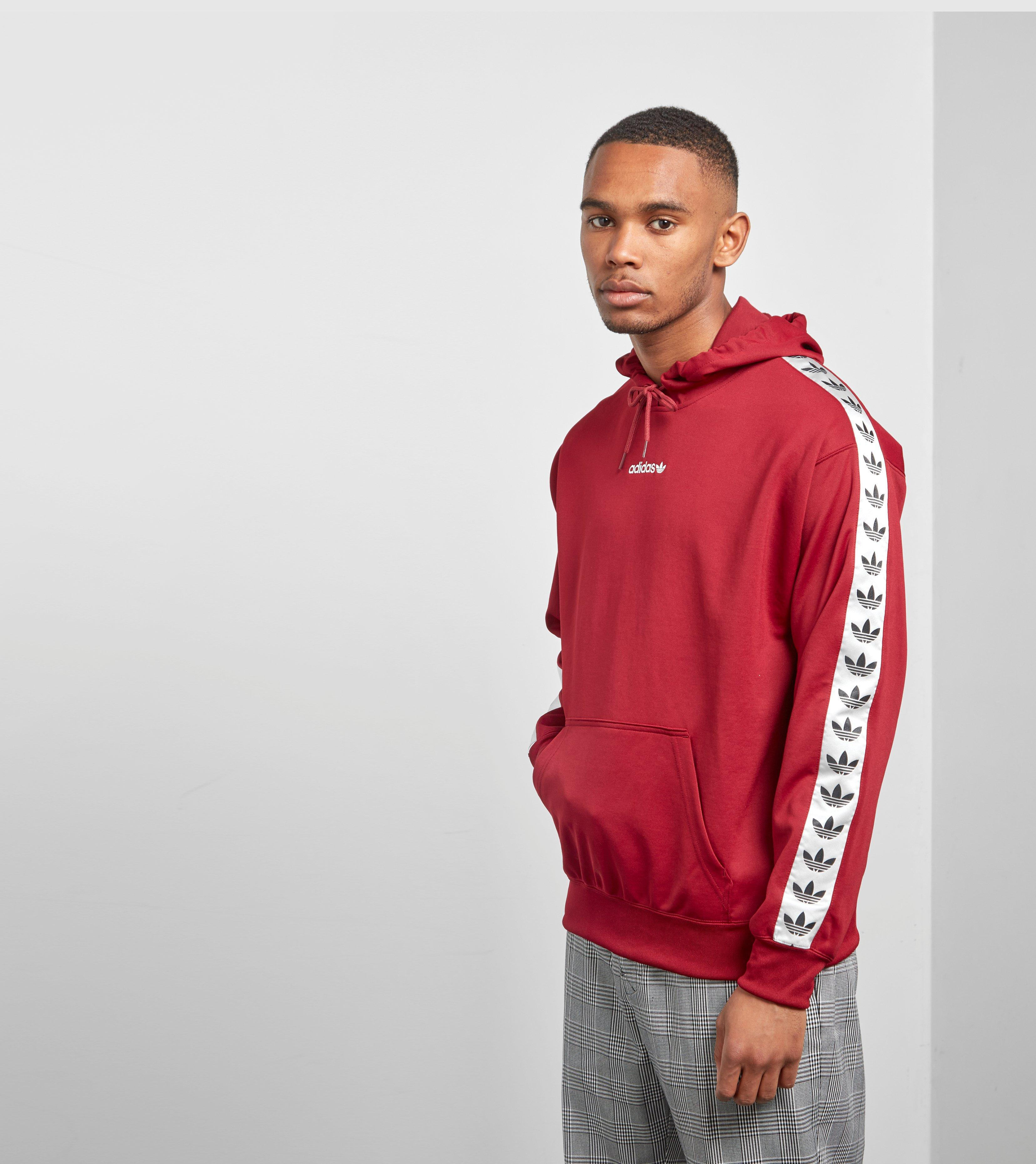Adidas Originals Overhead Tape Hoody Size Exclusive In Red For