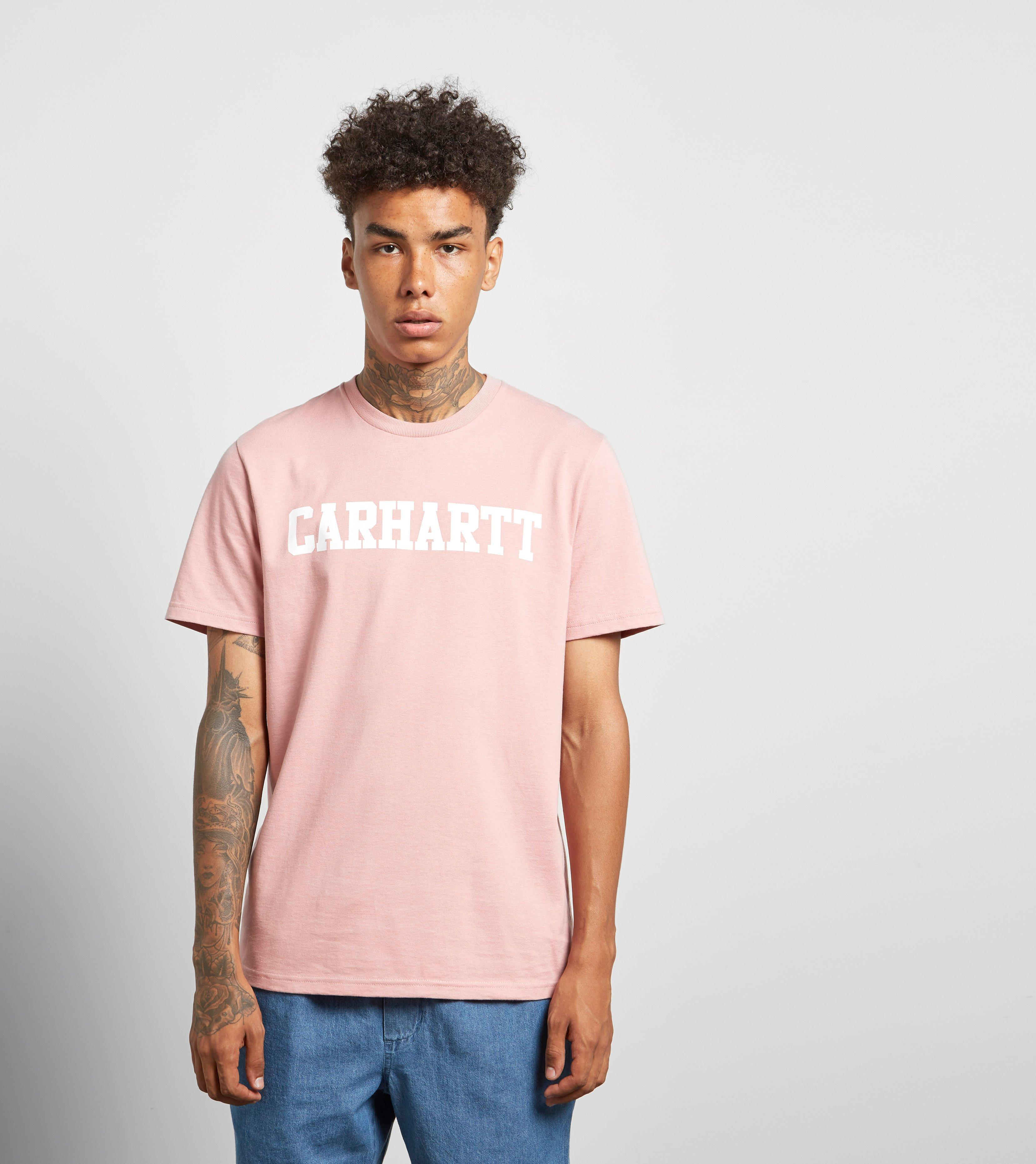 9a2ea72e04 Carhartt WIP College Short Sleeve T-shirt in Pink - Lyst