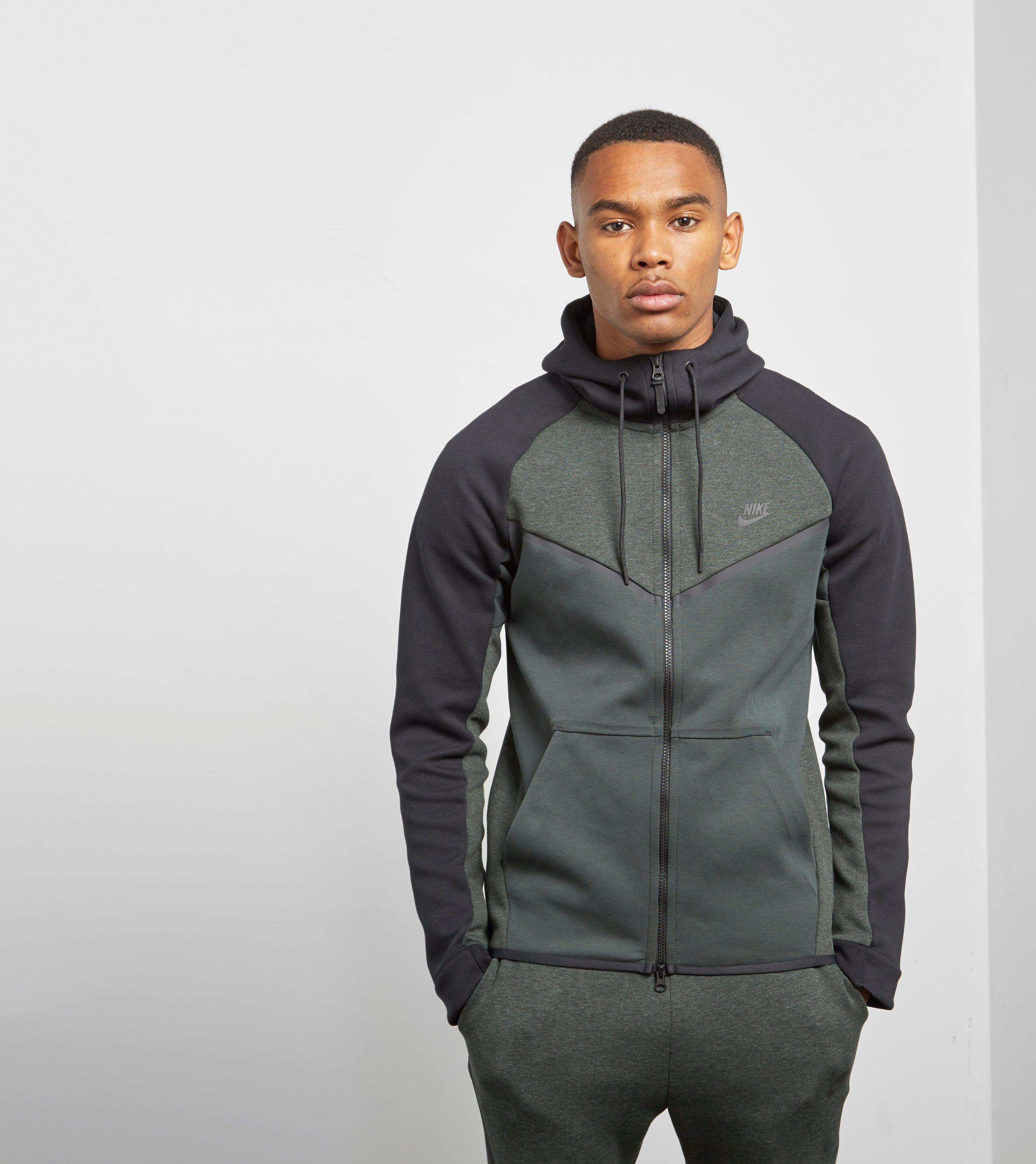 07cb5582fa Nike Tech Fleece Windrunner Full Zip Hoody in Black for Men - Lyst