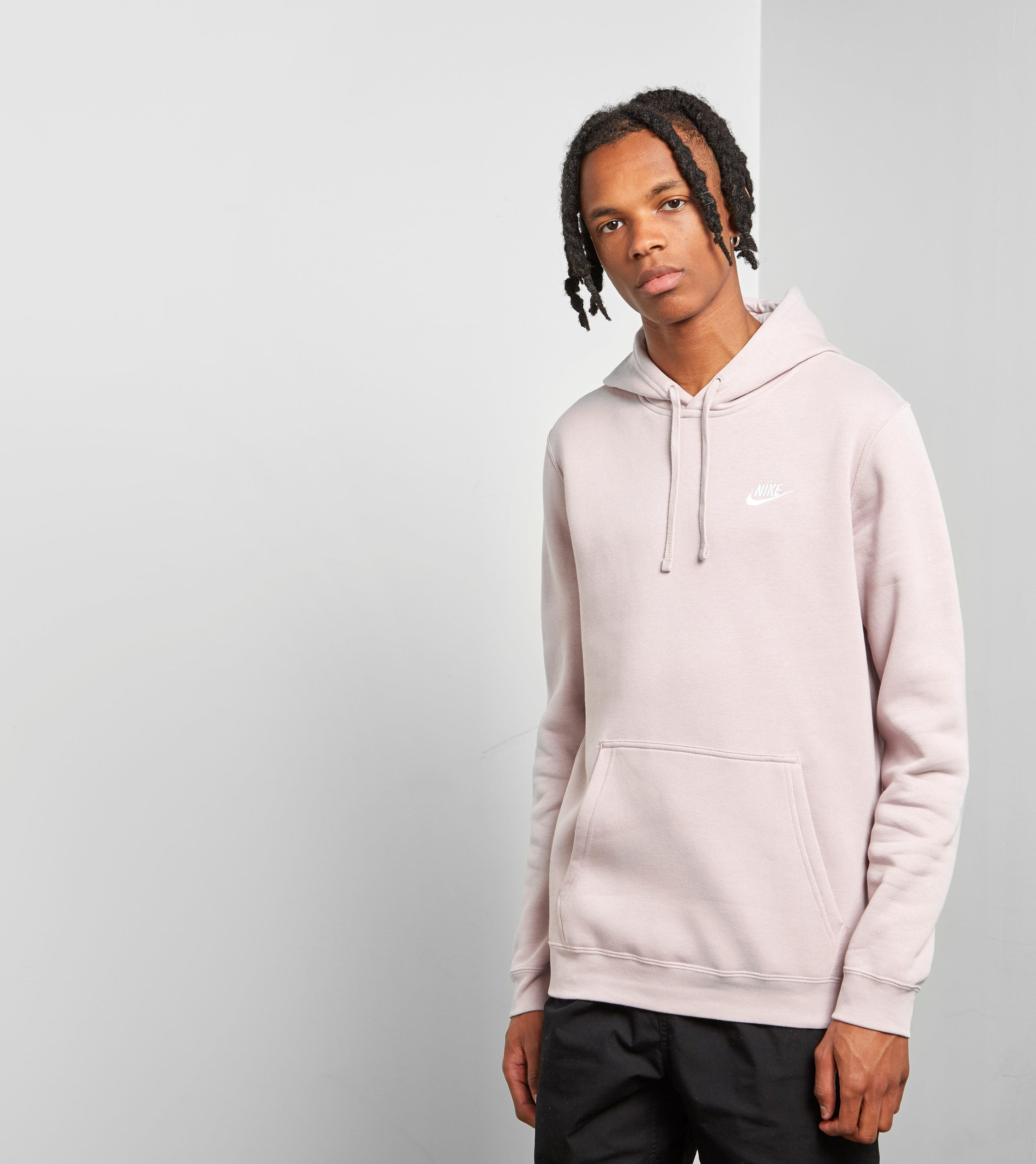 92035d447884 Lyst - Nike Club Fleece Overhead Hoody in Pink for Men