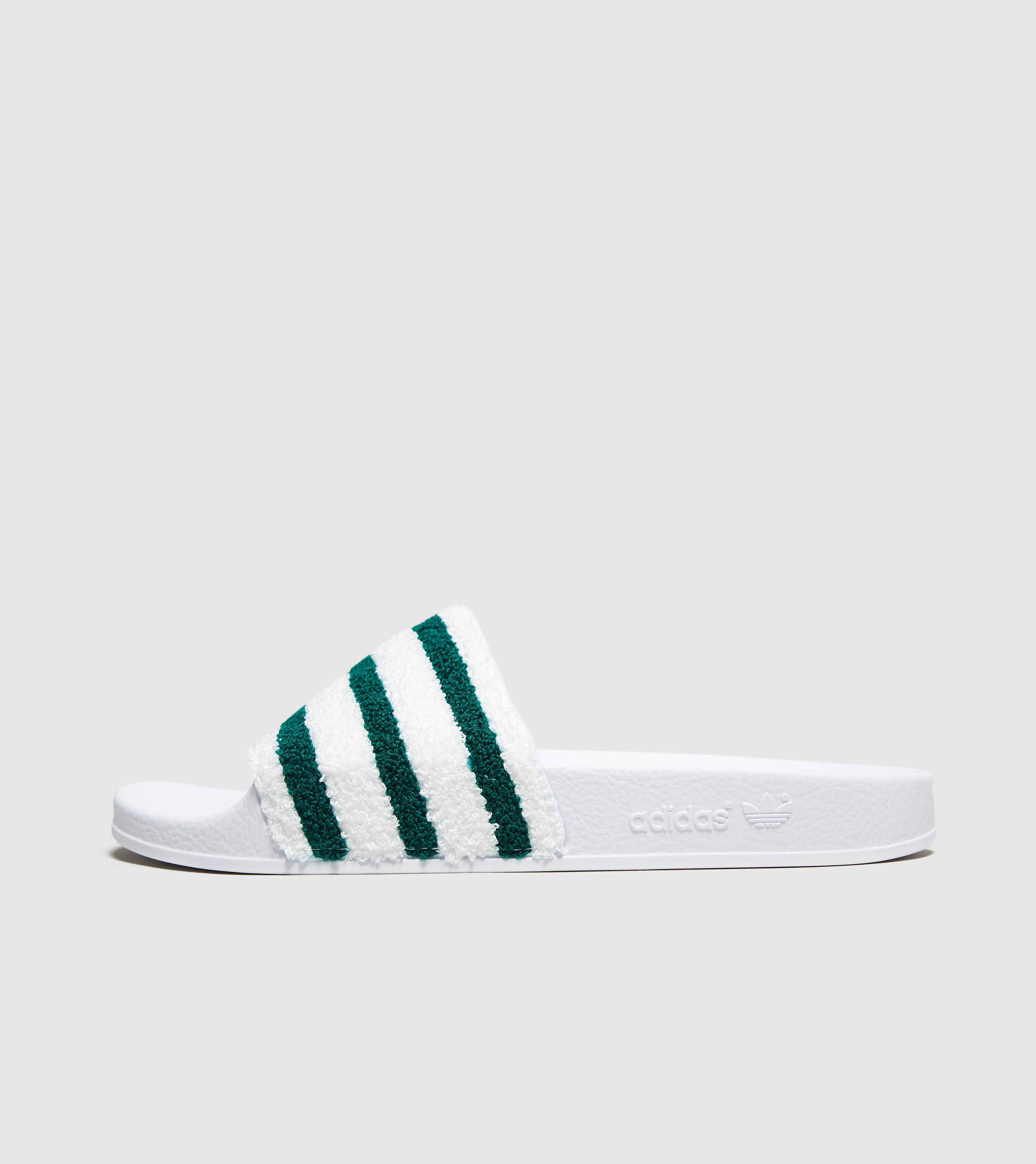 12369331617b Lyst - adidas Originals Adilette Towelling Slides in White