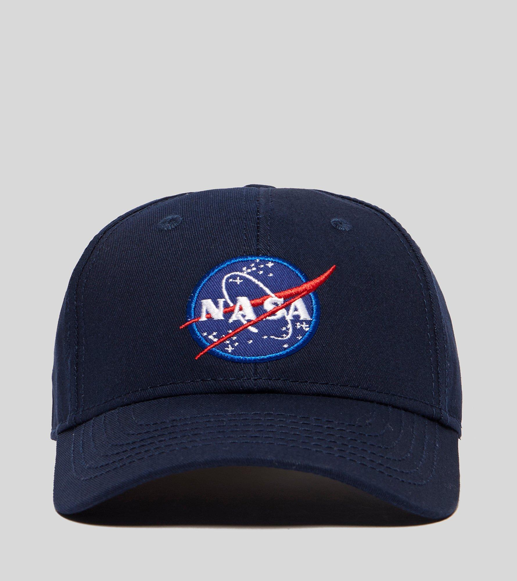 7fbd06d4596 Alpha Industries Nasa Peak Cap in Blue for Men - Lyst