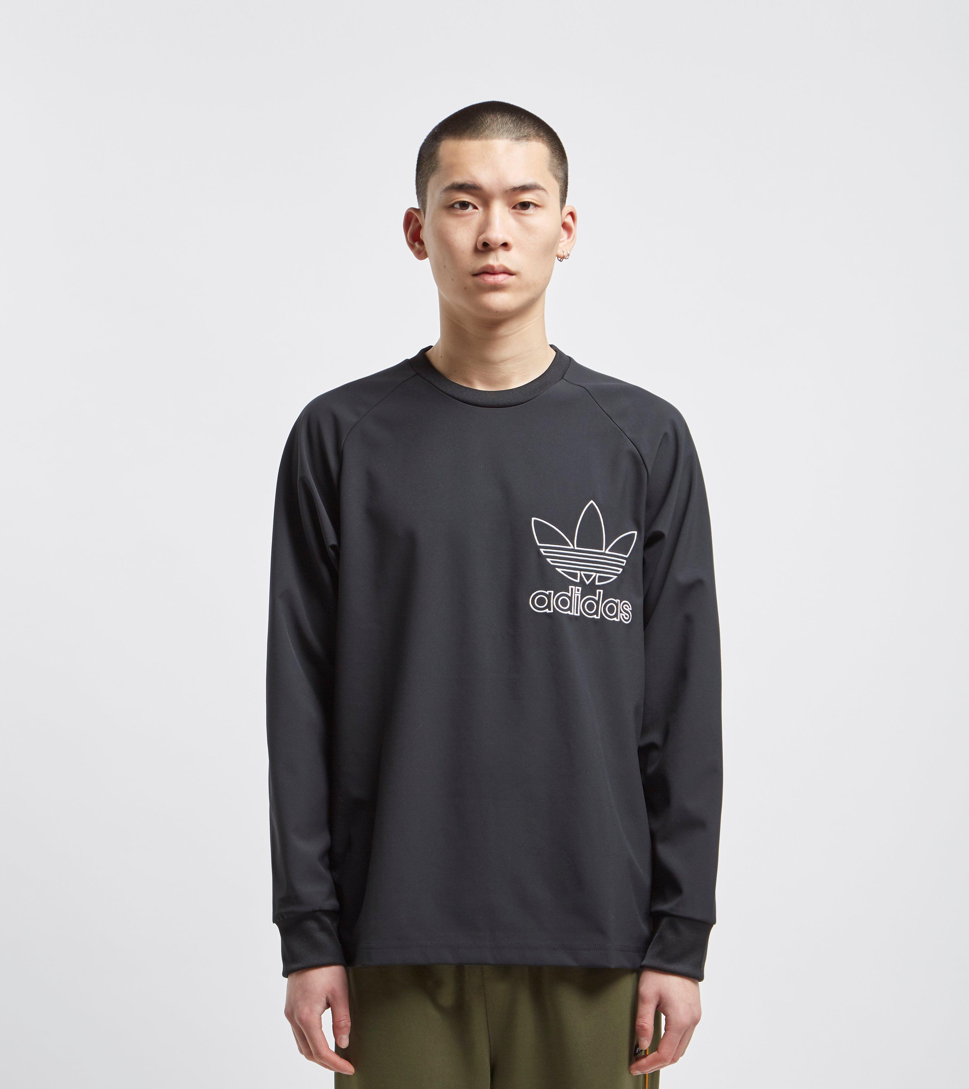 For Lyst Black Originals Adidas Outline Men Crew Sweatshirt In qq047r