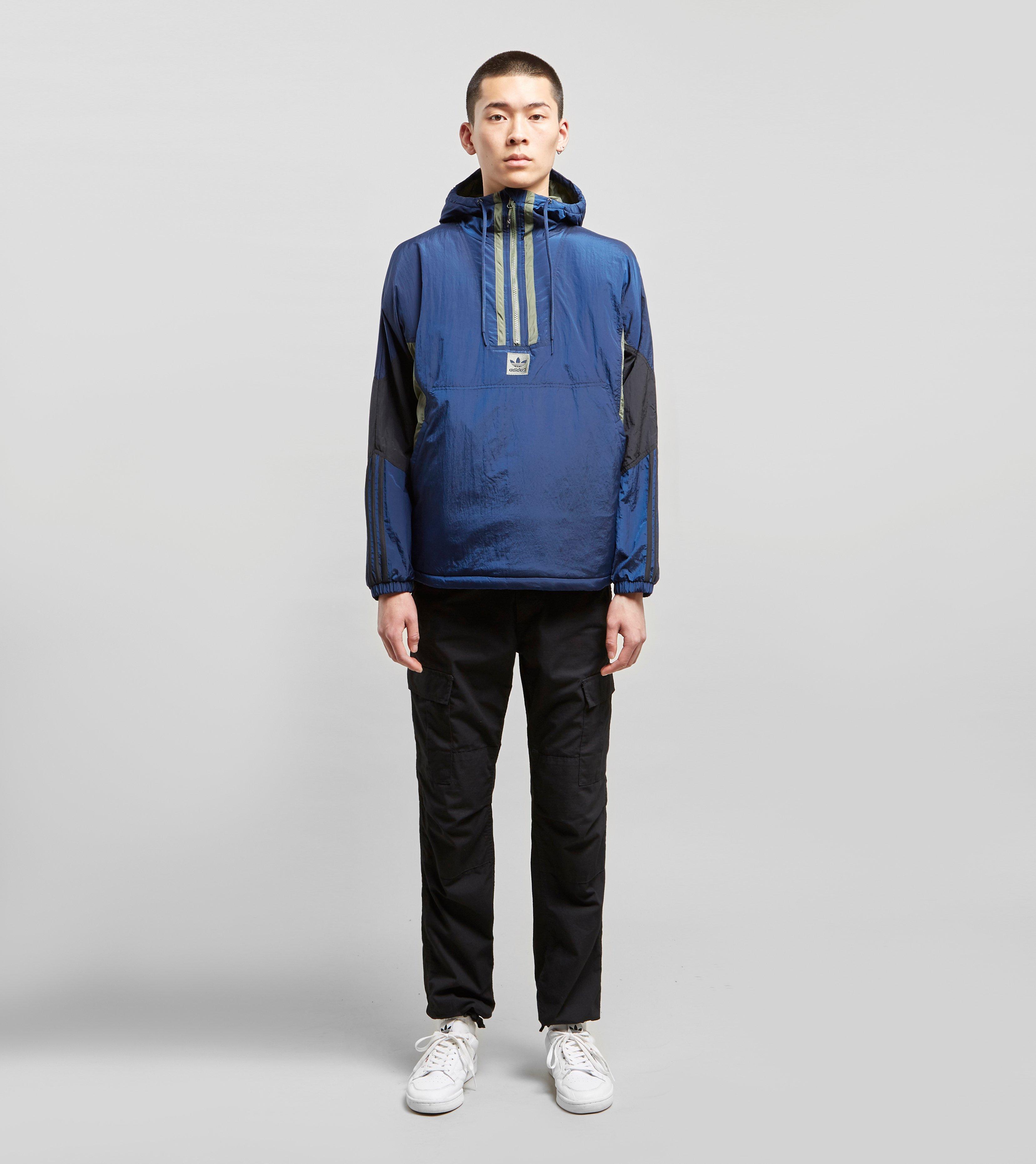 ff84ae6fc1960 Lyst - Adidas Originals Half-zip Anorak in Blue for Men