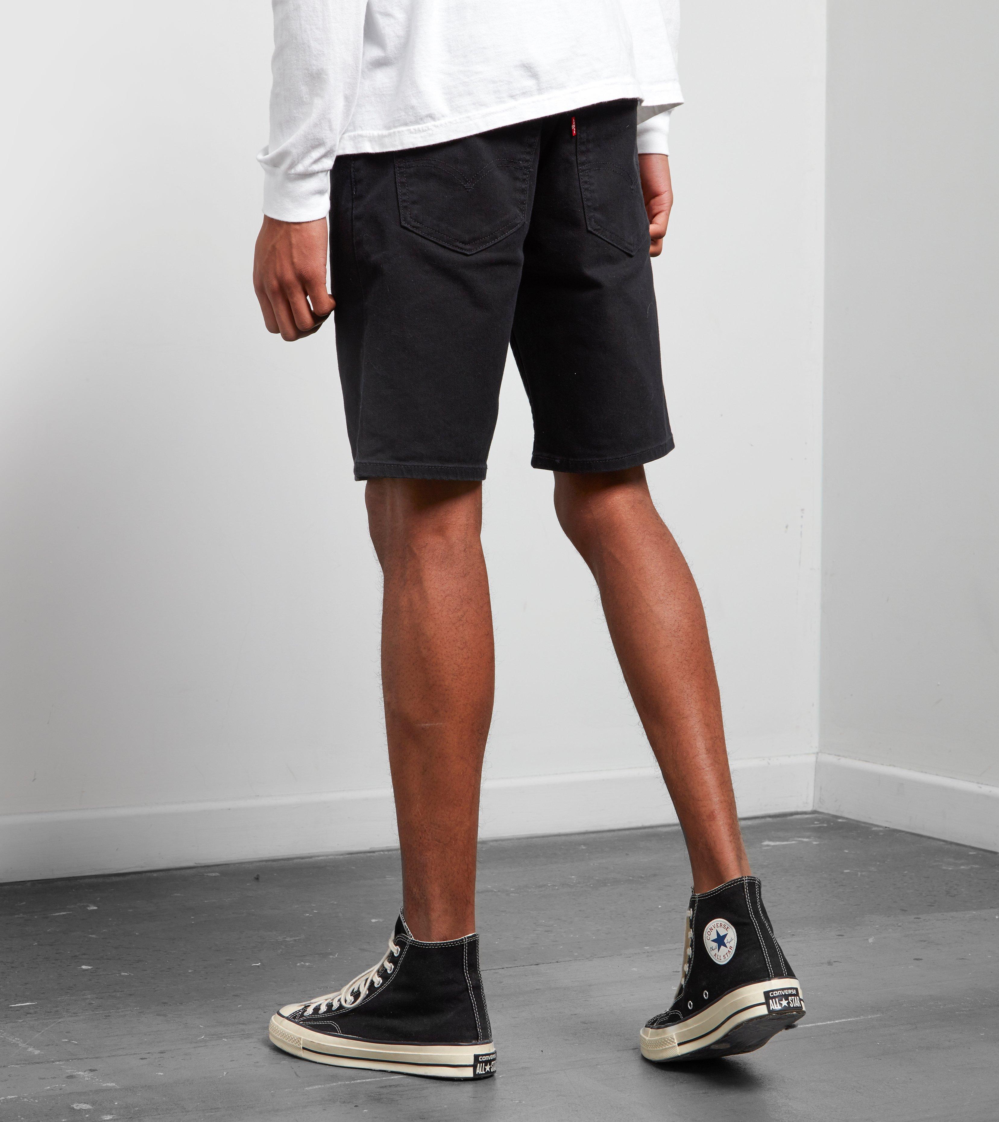 c519bbdb Levi's Levis 502 Regular Taper Fit Hemmed Shorts in Black for Men - Lyst