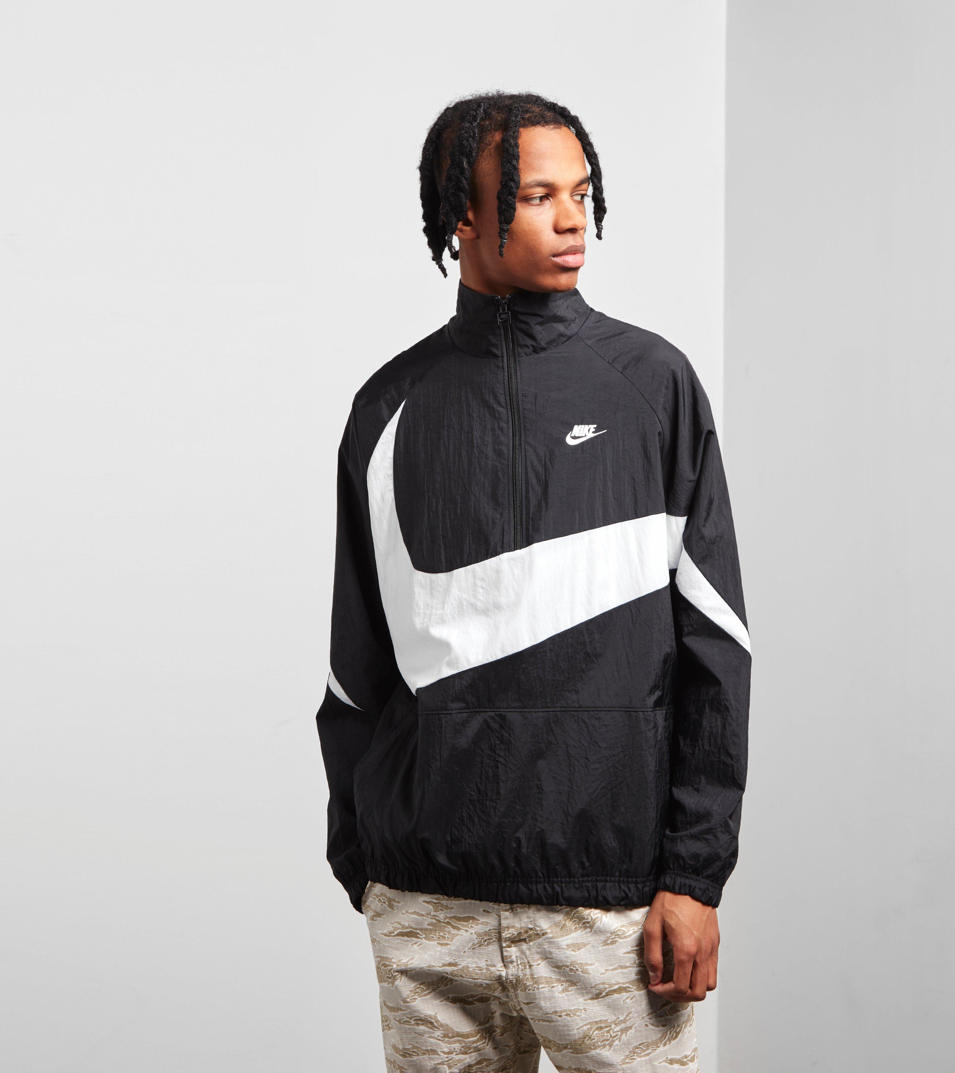 4992b95b0e31 Nike Swoosh Half Zip Woven Jacket in Black for Men - Lyst