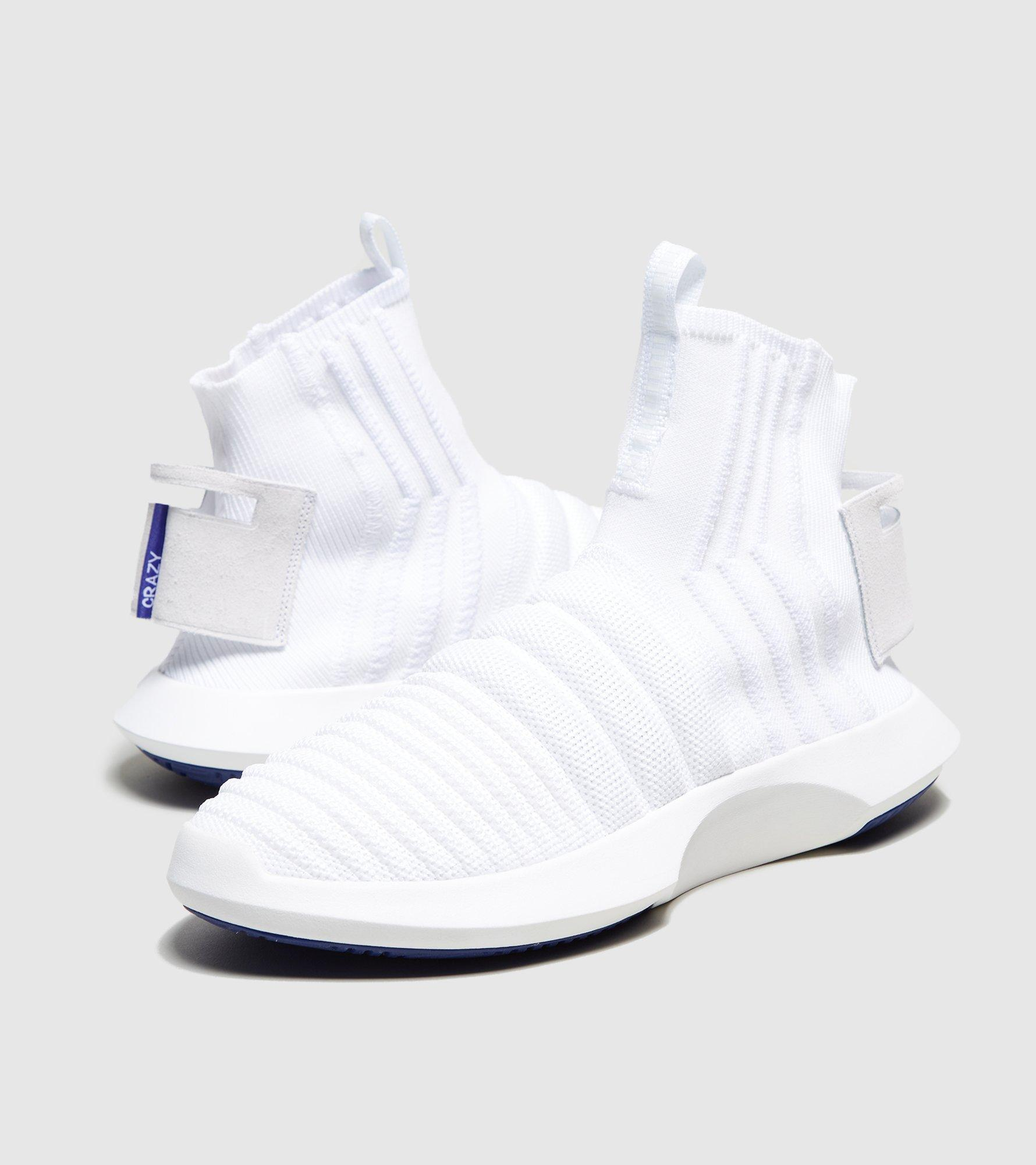 7c12c5eb14cb Lyst - adidas Originals Crazy 1 Sock Adv Primeknit in White for Men