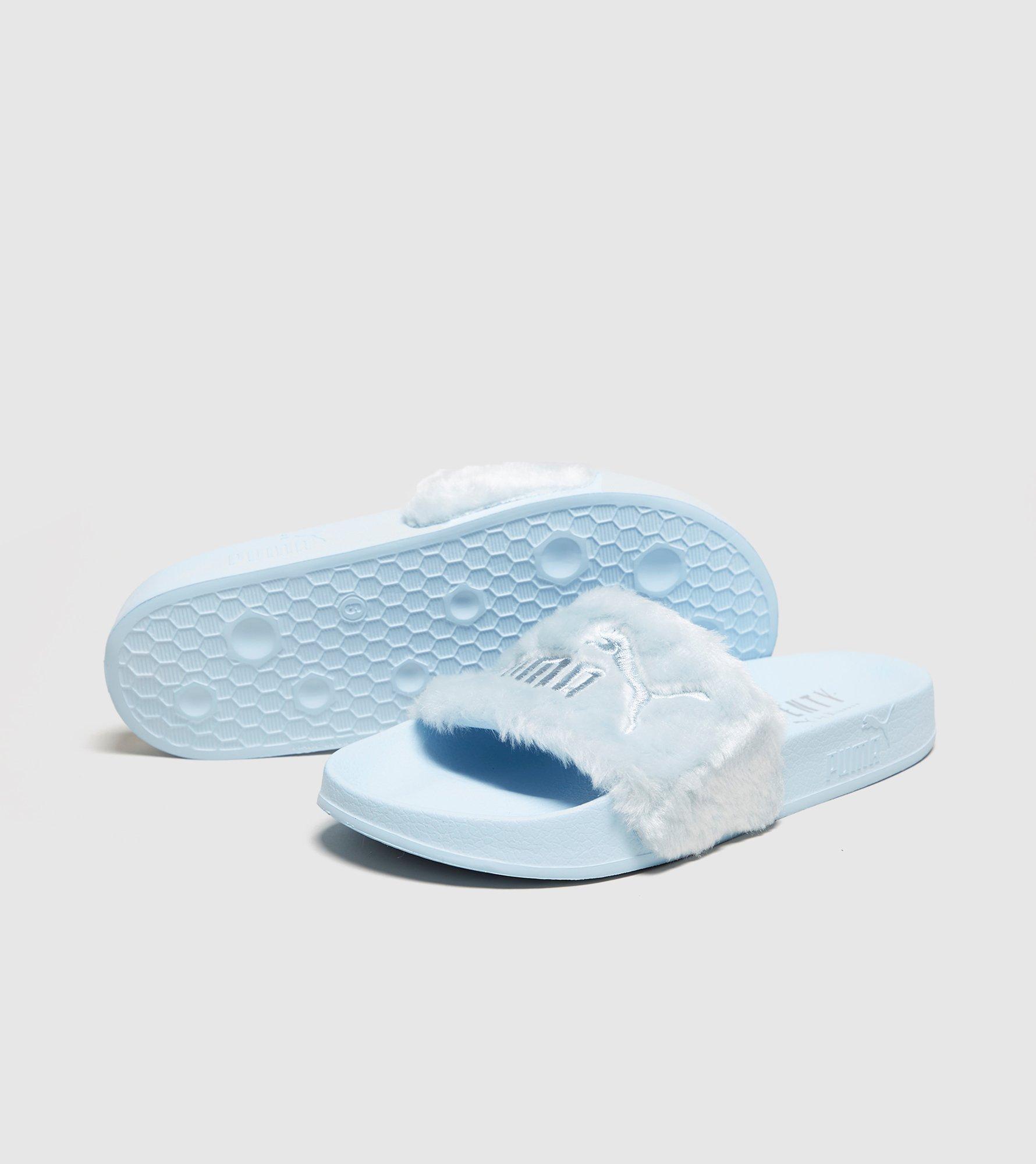 premium selection 6ce8b 73742 PUMA - Blue Fenty Fur Slides Women's - Lyst