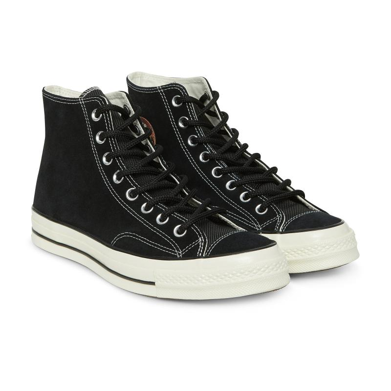 Lyst - Converse Chuck Taylor 70 Hi Base Camp Suede Sneakers in Black ... 16b8149c6