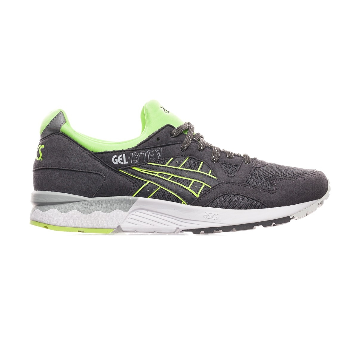 Asics Gel Lyte V Shoes Black White Green