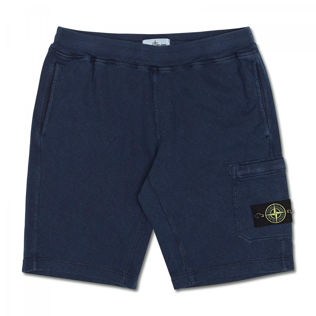 stone island sport short pants in blue for men lyst. Black Bedroom Furniture Sets. Home Design Ideas