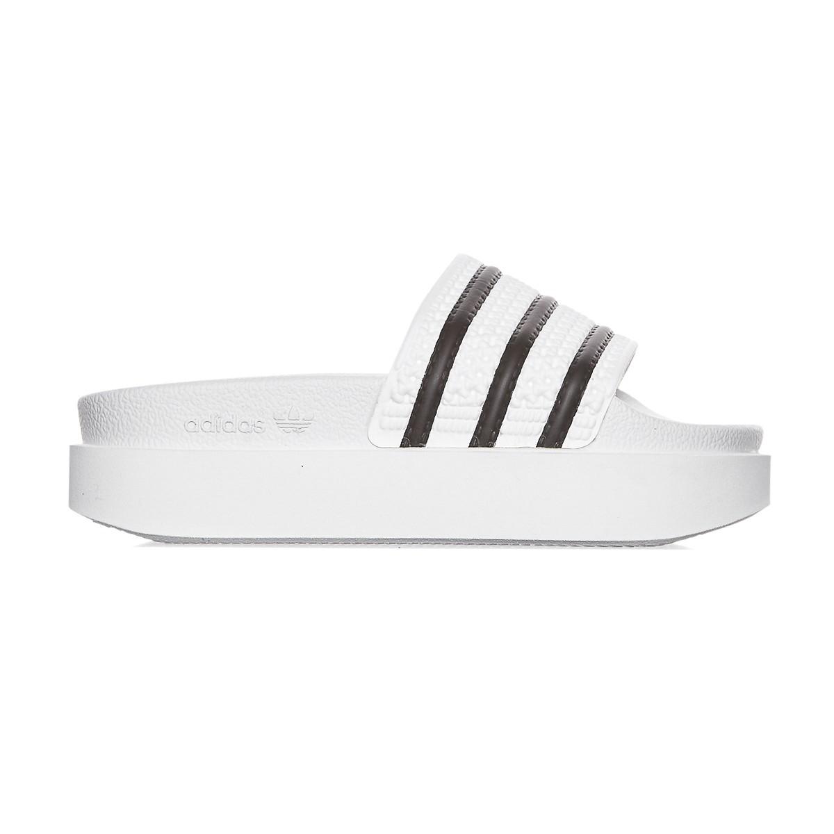 new product 34e48 8989e Lyst - adidas Originals Adilette Bold Slide Sandals in Black