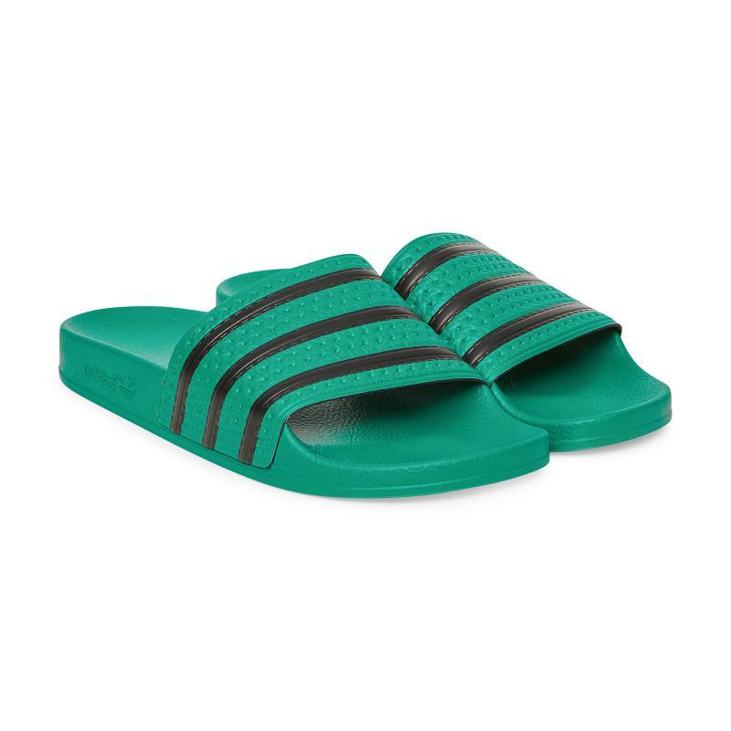 6eb5325df4f6 Adidas Originals - Green Adilette Slides - Lyst. View fullscreen