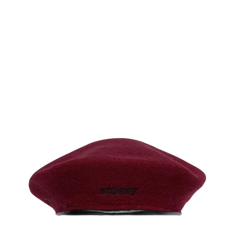 4ab1bcf89127e Stussy Military Beret in Red - Lyst
