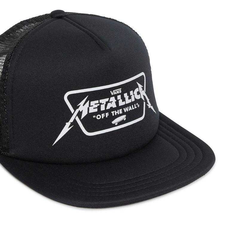 Lyst - Vans Metallica Trucker Cap in Black for Men cf4cdc8b7c5