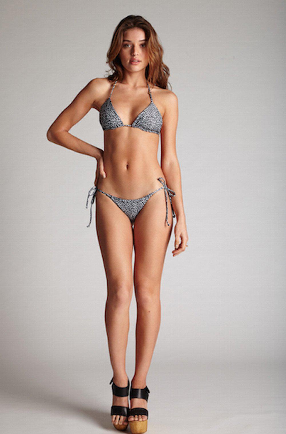 Kai Lani Swimwear Tiny Side Tie Bottom In Animal Ruby Lyst