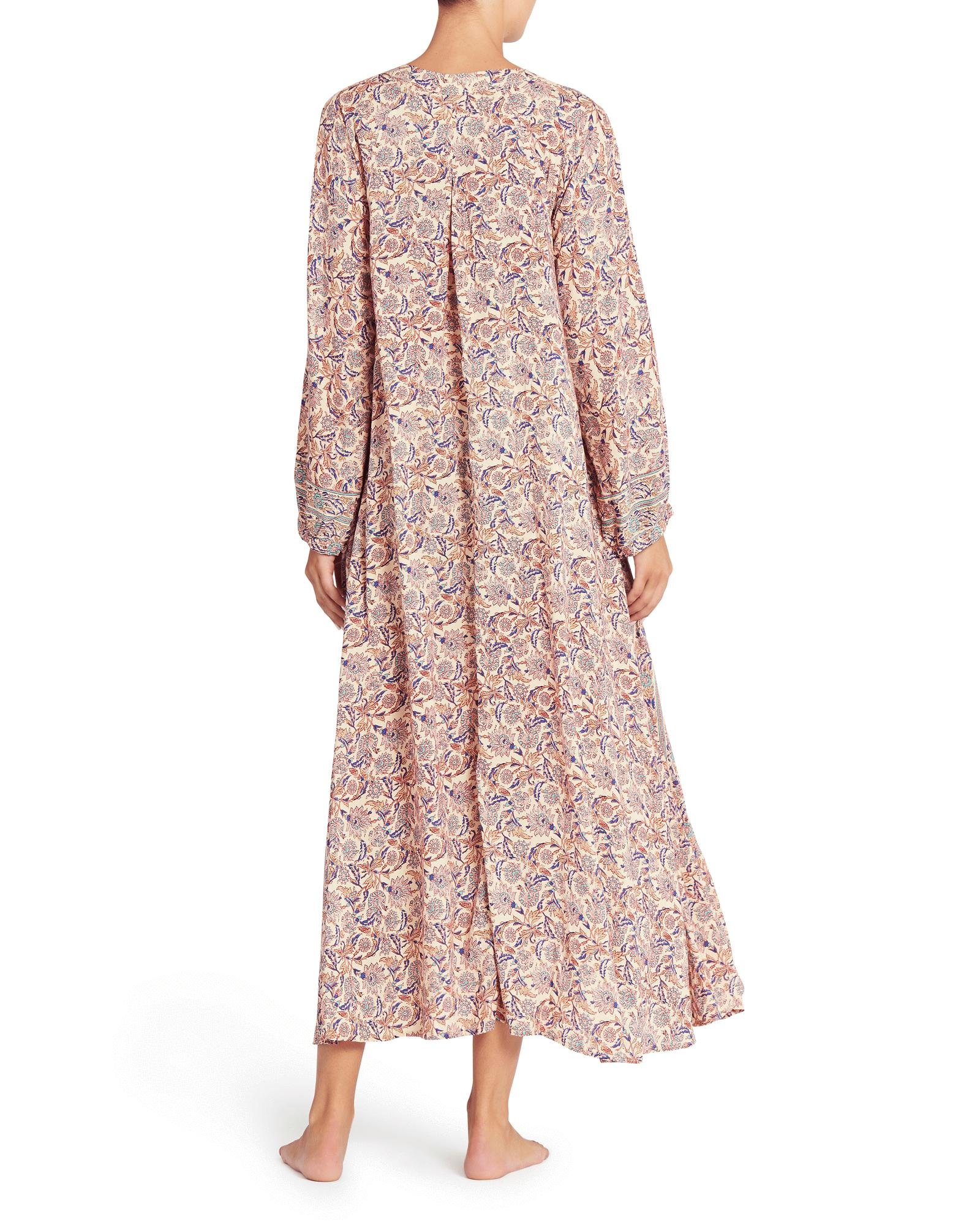 4bb1c5596ae Lyst - Natalie Martin Fiore Maxi Dress In Goa Print in Pink