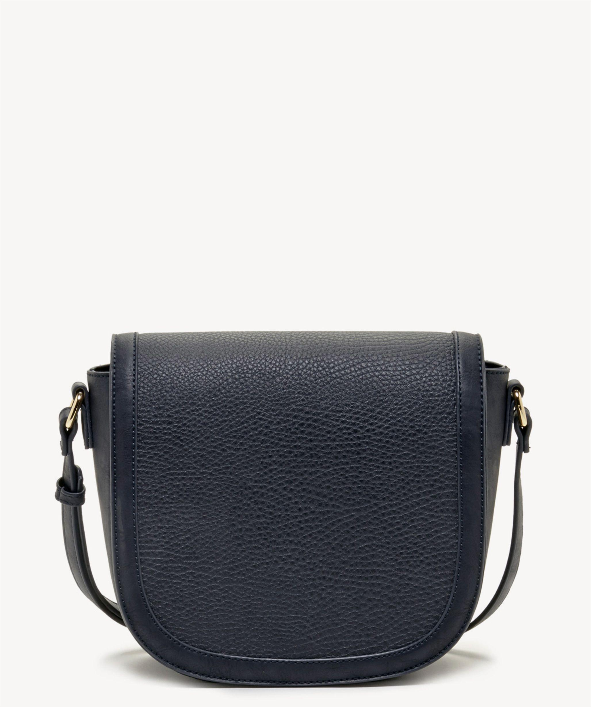 Lyst - Sole Society Finnigan Mixed Material Crossbody in Blue 98d66dc0fc542