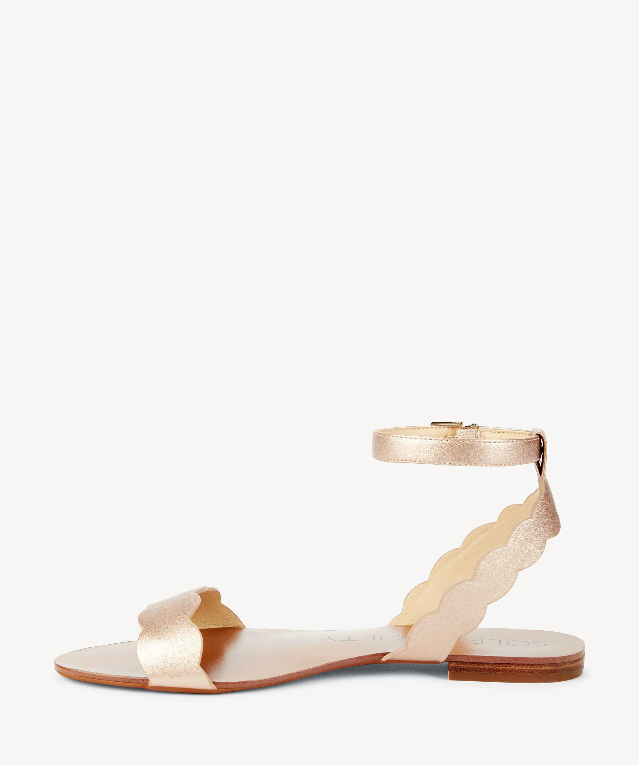 918961c7ae2 Lyst - Sole Society Odette Scalloped Flat Sandal in Pink