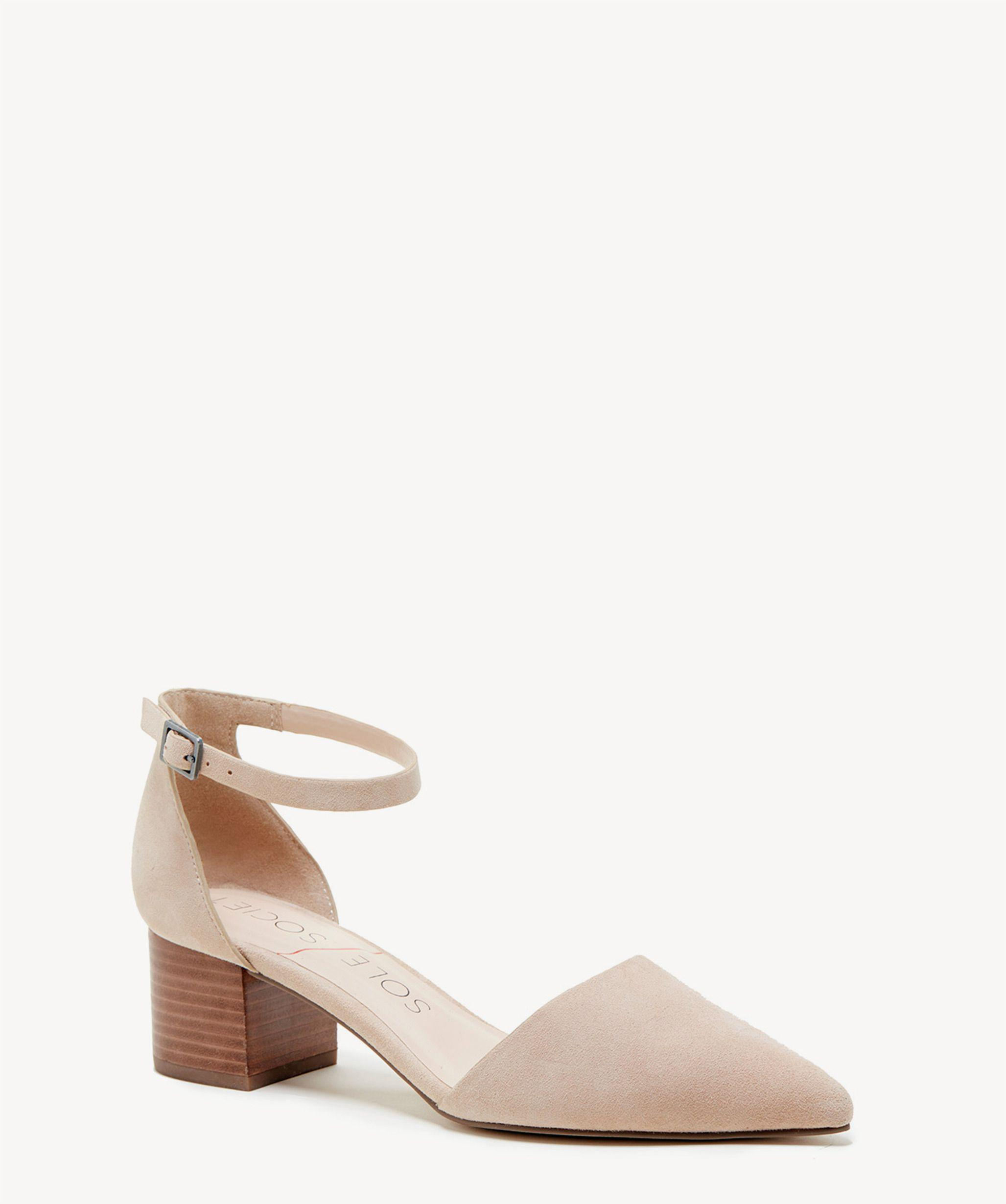 bd151d91ccb Lyst - Sole Society Katarina Two Piece Block Heel Pump in Natural