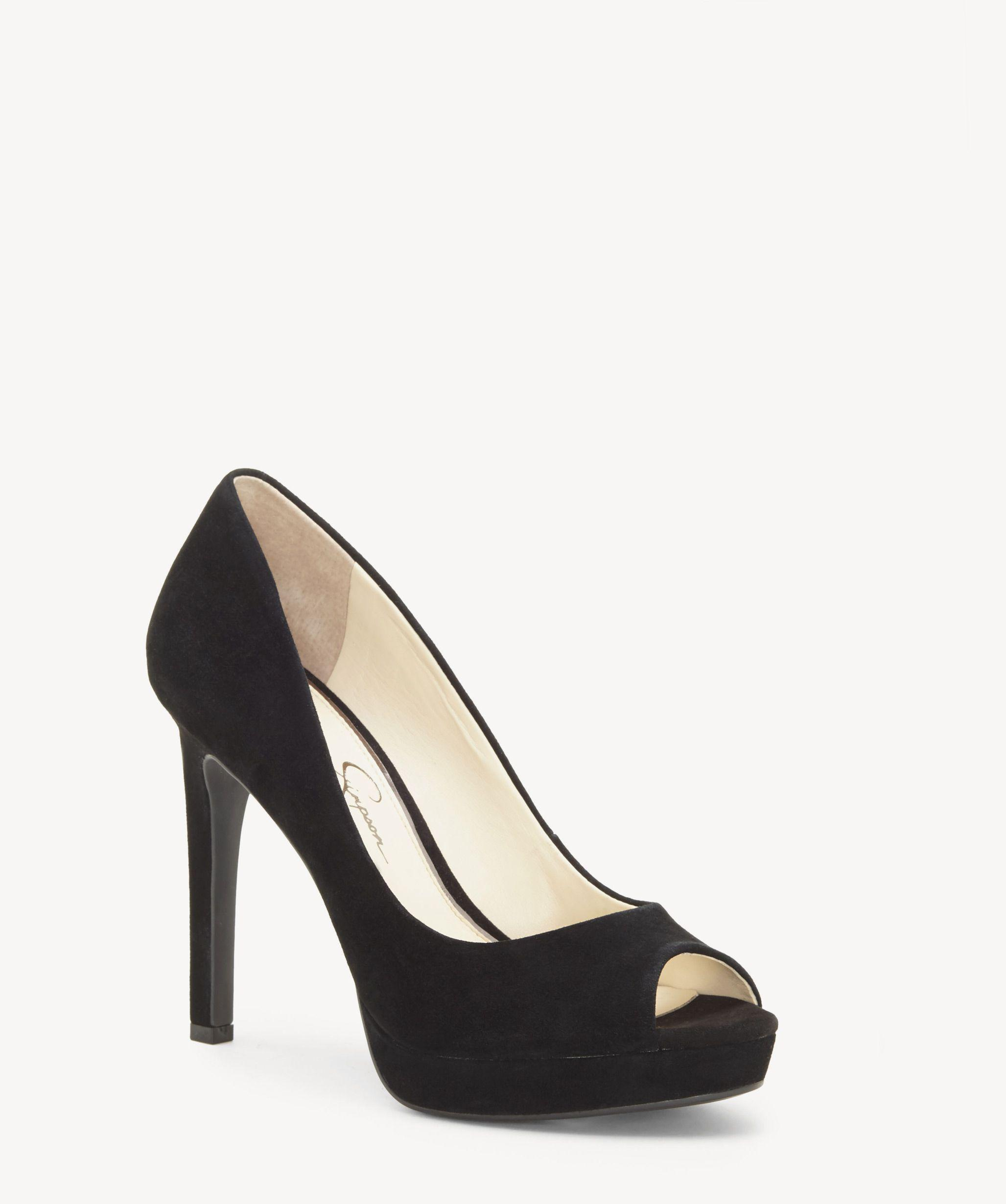 c80b253e7ac Lyst - Jessica Simpson Dalyn Peep Toe Sandal in Black - Save 10%