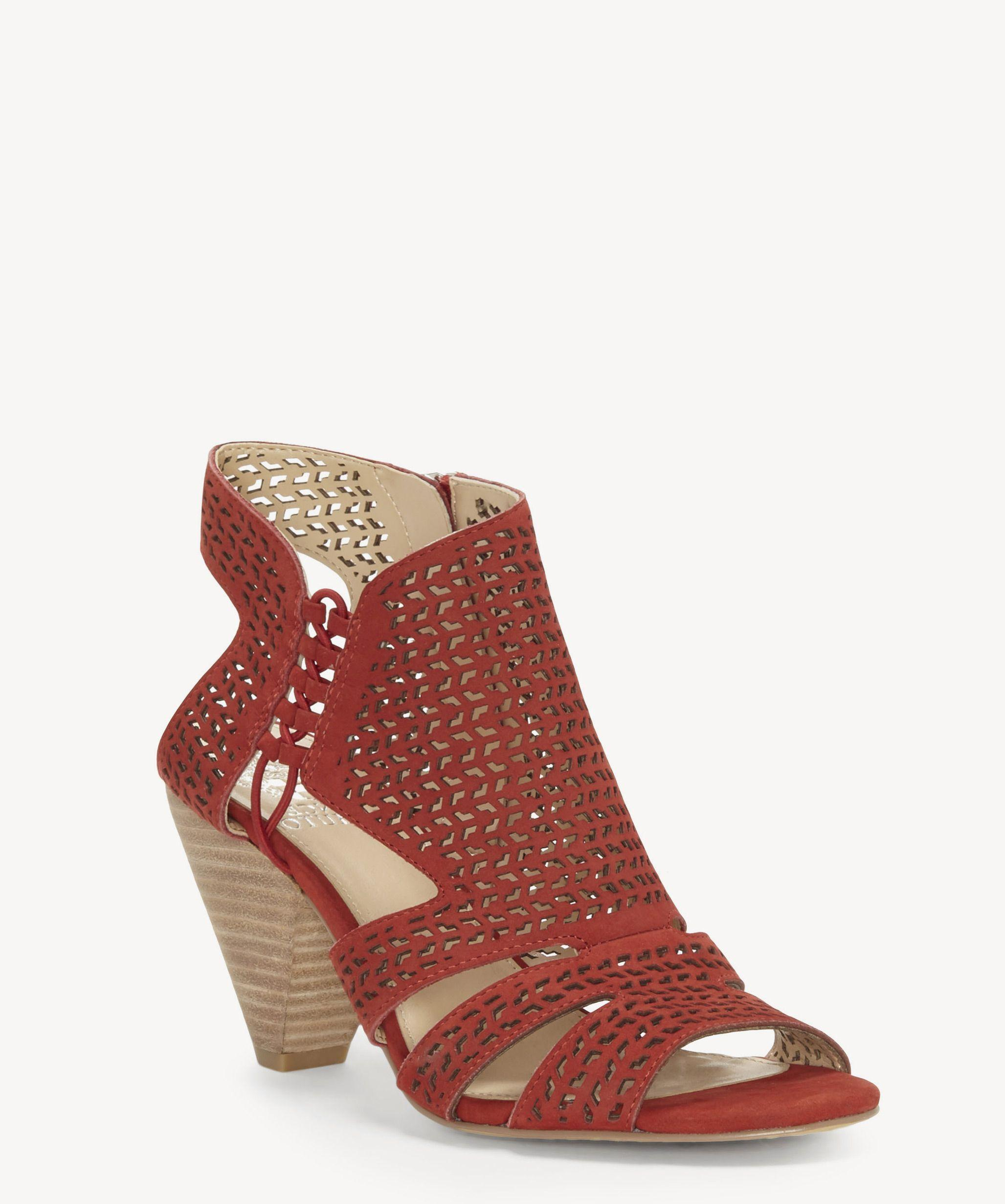 f6c26bd21e9 Lyst - Vince Camuto Esten Cone Heel Sandal in Red - Save 51%