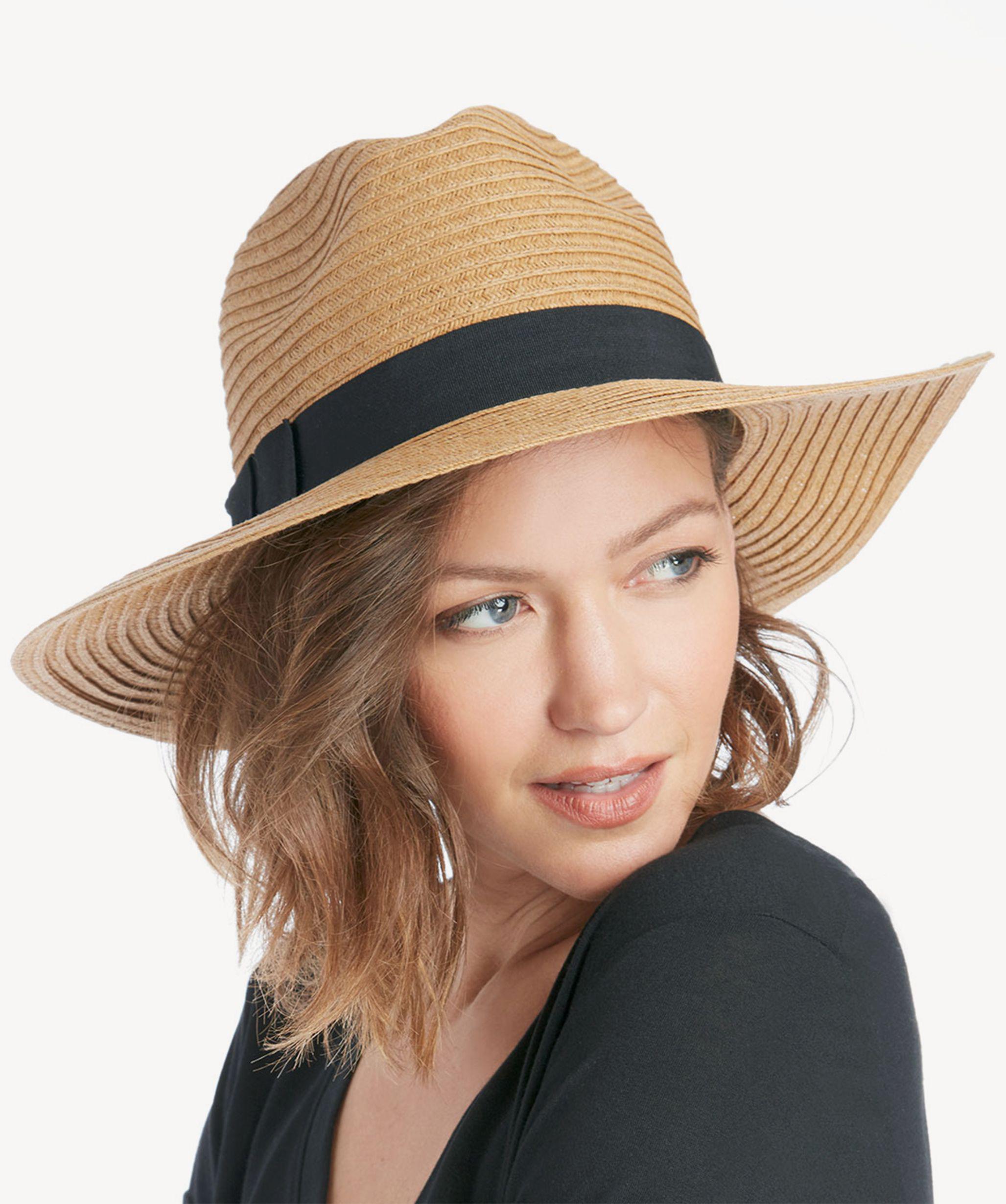 Lyst - Sole Society Wide Brim Panama Hat in Black 6b8437ca889