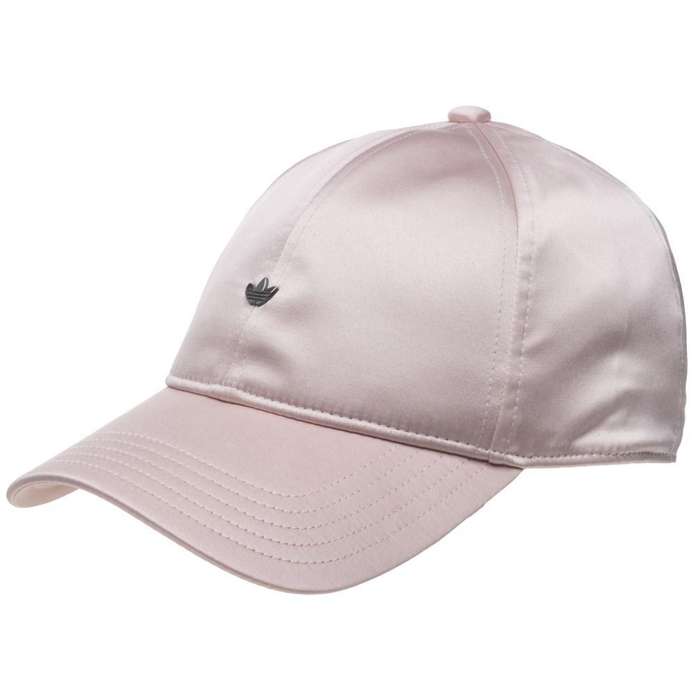 adidas Satin Trefoil Cap in Pink - Lyst c299e0ded6e8