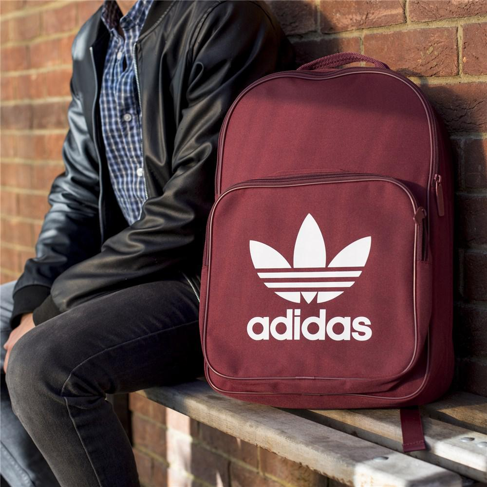 b2a370ffcaa3 adidas Classic Trefoil Backpack in Red - Lyst