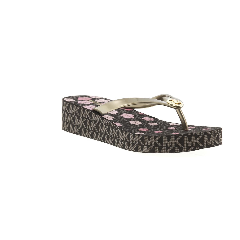 e39344771db8 Michael Kors - Brown Bedford Flip Flop Sandals - Lyst. View fullscreen