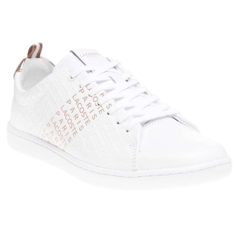 ec197023becc1b Lacoste Carnaby Evo Trainers in White - Lyst