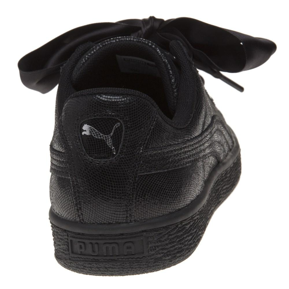4dc92a360f4 Puma Basket Heart Ns Trainers in Black - Lyst