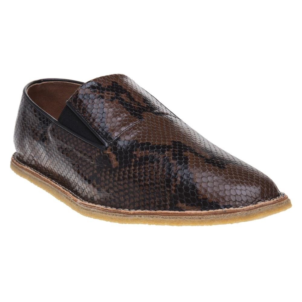 439419e7e9 Dries Van Noten - Brown Python Embossed Espadrille Shoes for Men - Lyst.  View fullscreen