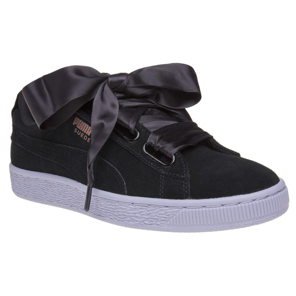 PUMA Suede Heart Vr Trainers in Black - Lyst 9587bbb40