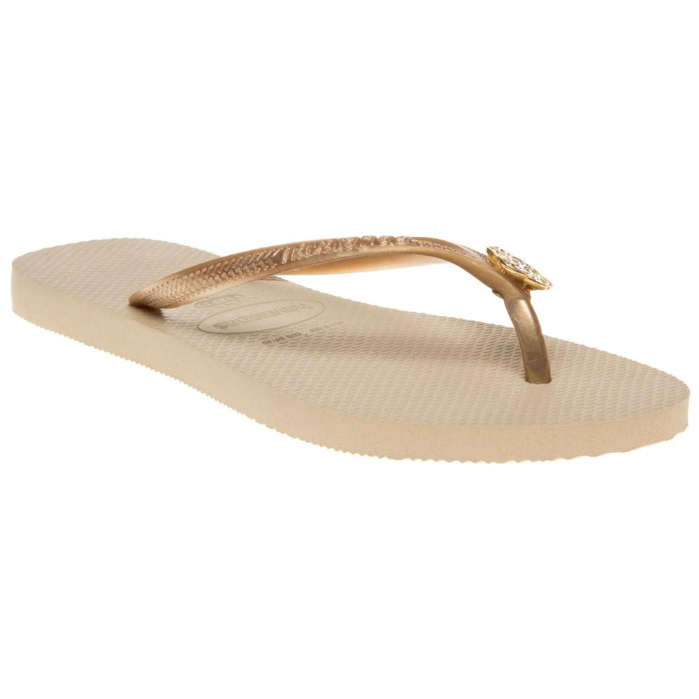 ce60df0f11a Havaianas Slim Crystal Poem Sandals in Natural - Lyst