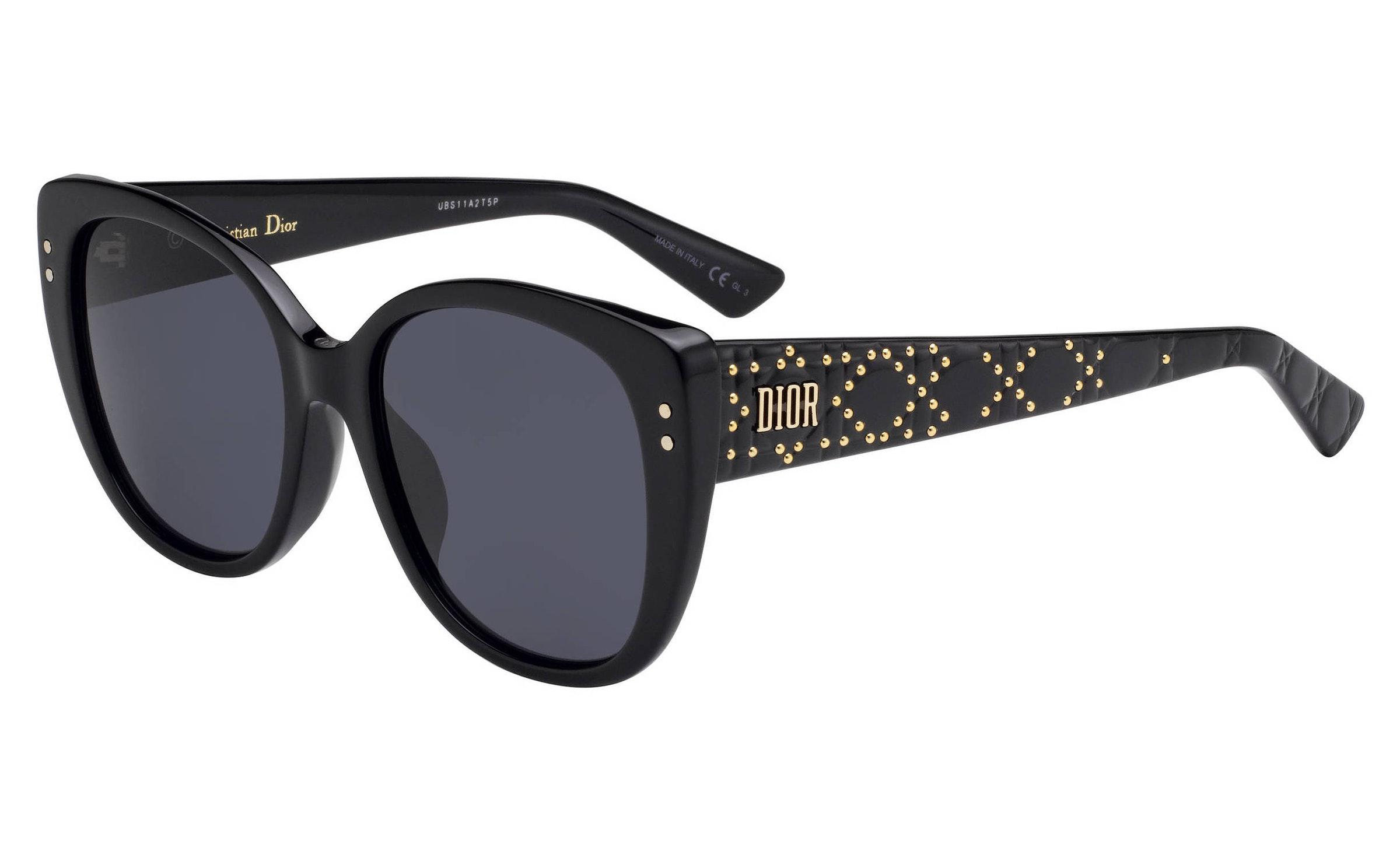 597da1818ea Lyst - Dior Dior Lady Dior Studs 4f Cat Eye Sunglasses in Black