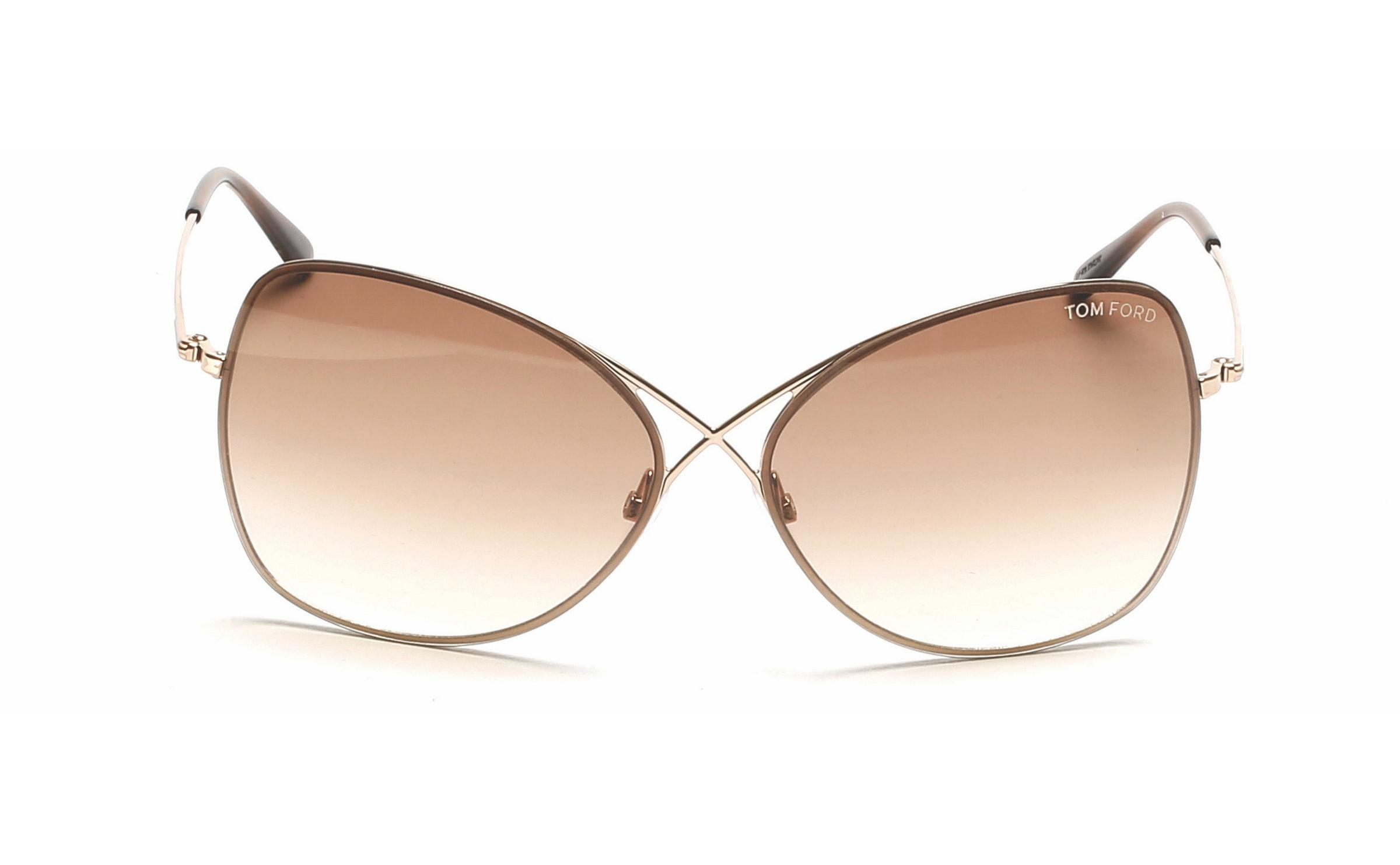f9c741b1aa4f Lyst - Tom Ford 0250 Colette Modified Oval Sunglasses in Brown