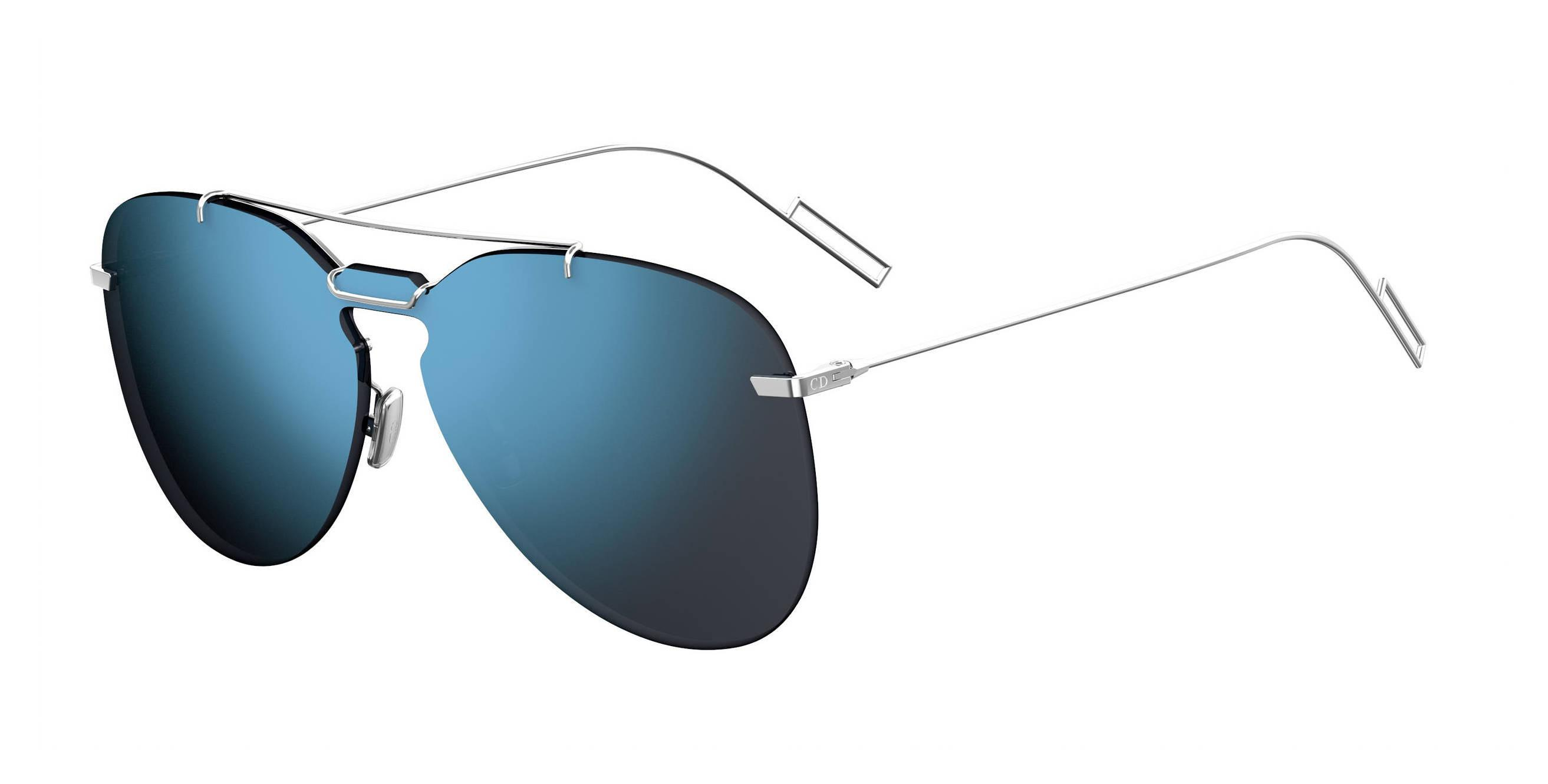 c0ad92493 Dior Homme 0222s Aviator Sunglasses in Blue for Men - Lyst