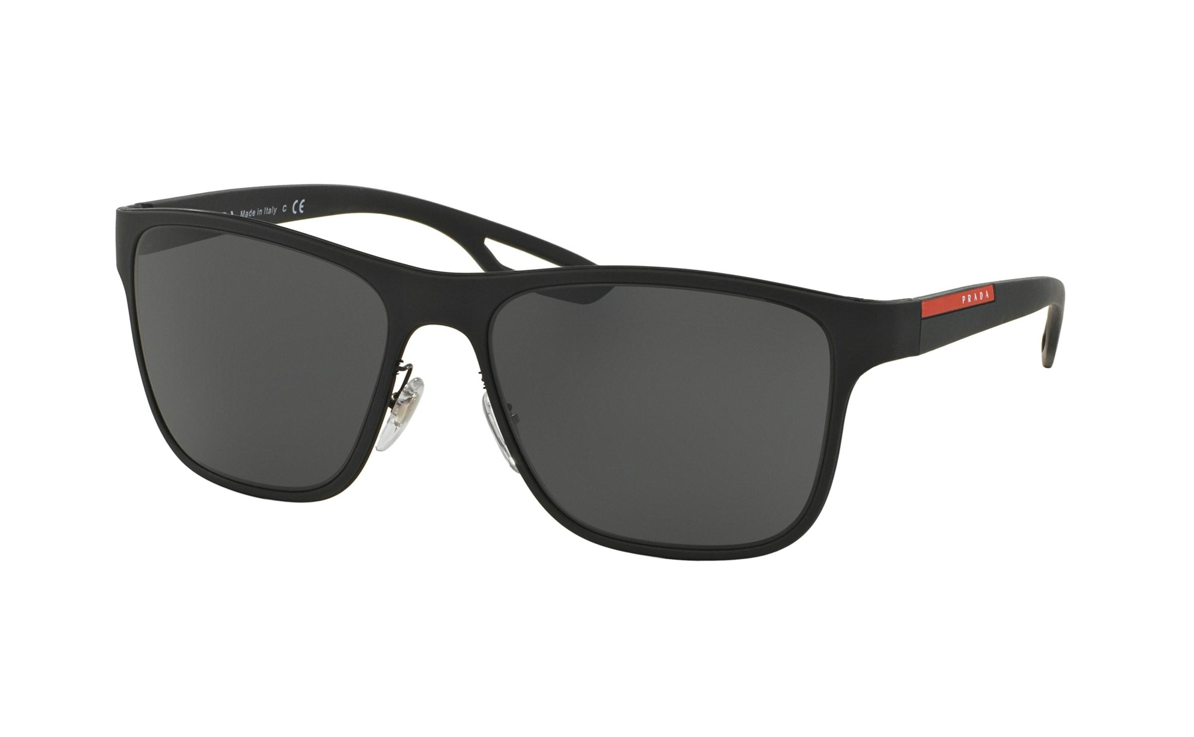 5a95015eb439 Lyst - Prada 56qs Wayfarer Sunglasses in Black