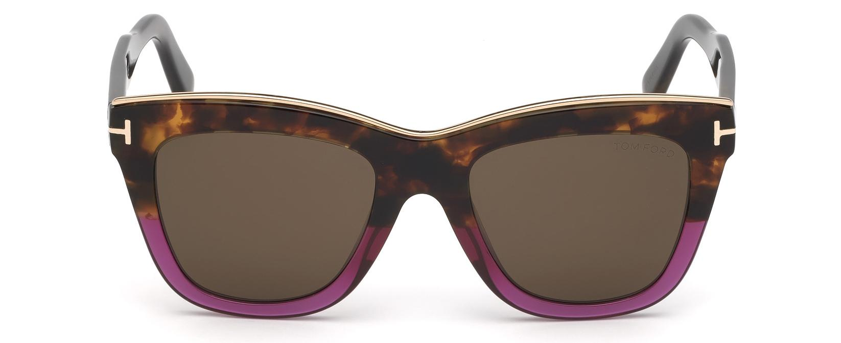 e8dc1bc7298 Lyst - Tom Ford 0685 Julie Cat Eye Sunglasses in Brown