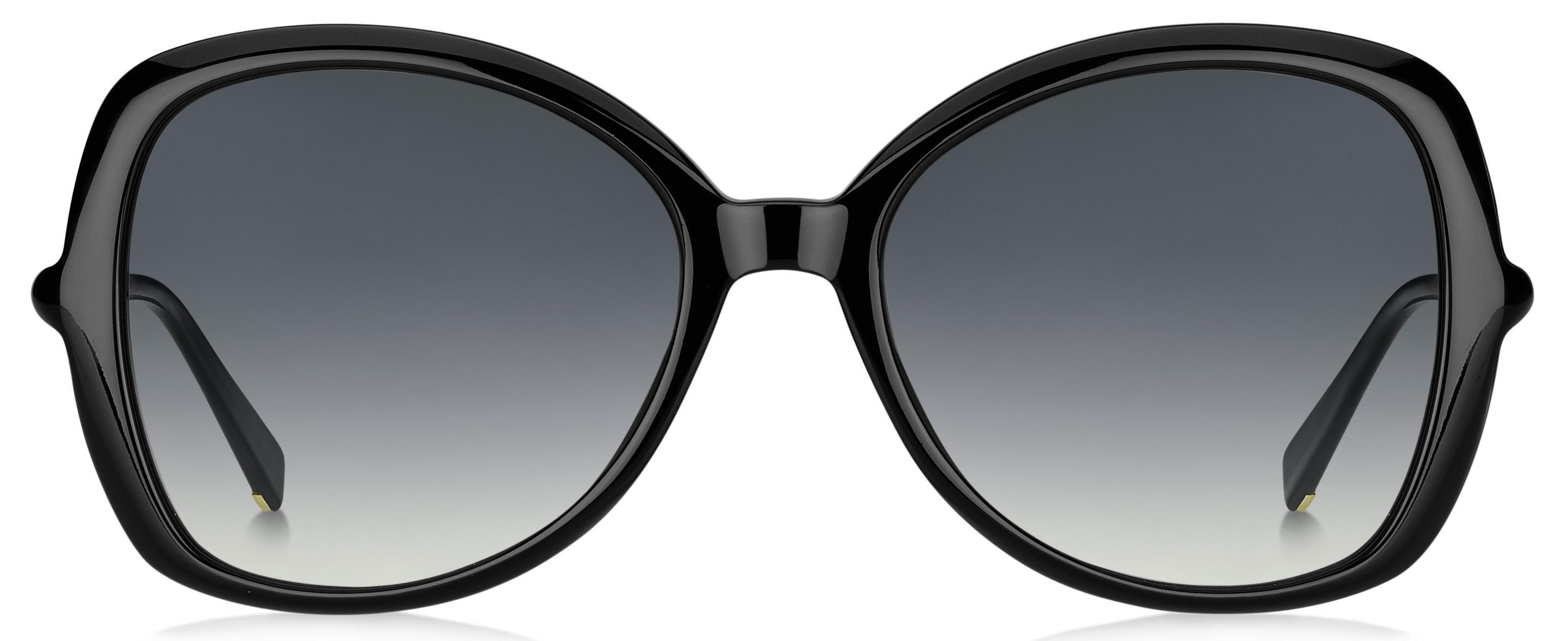 b14b6bc3edcc Lyst - Max Mara Ring Cat Eye Sunglasses in Black