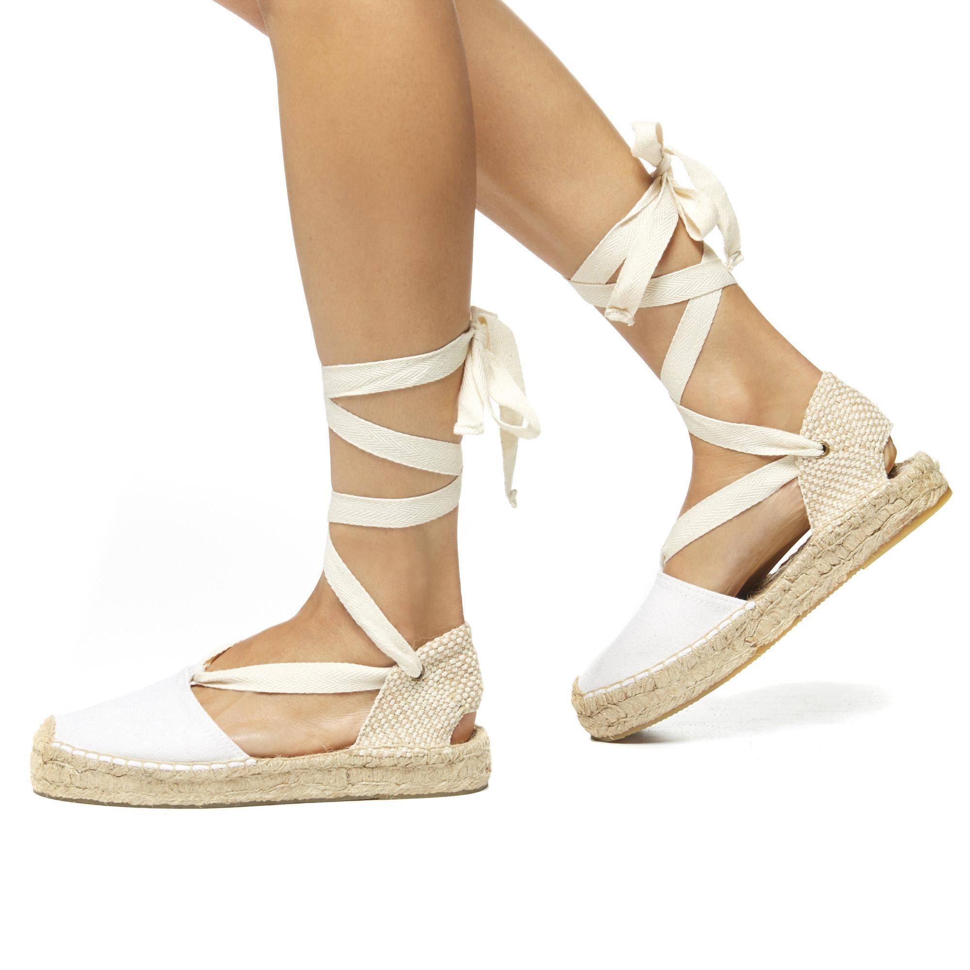 7db787e3cb7 Lyst - Soludos Canvas Platform Gladiator Sandal in White