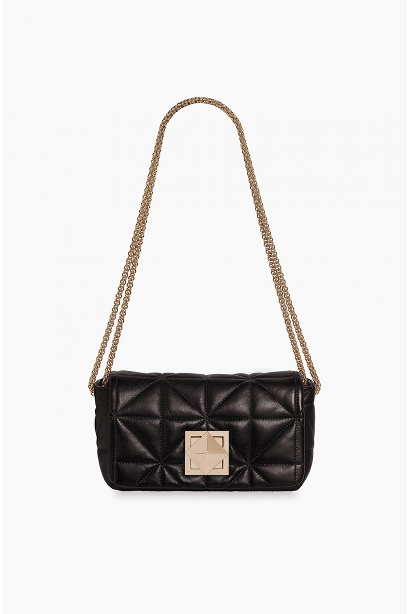 Le Copain Mini Bag in Gold Quilted Nappa Leather Sonia Rykiel vnVfn