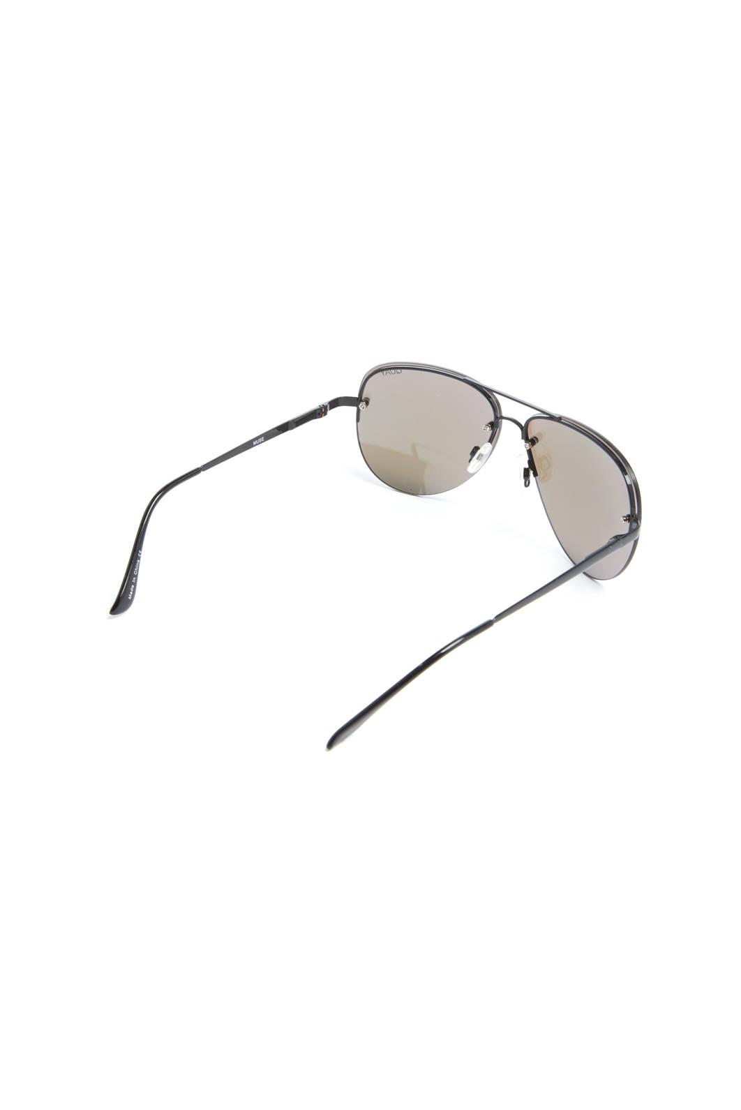 611f820211660 Lyst - Quay Muse Rimless Blue Flash Aviator Sunglasses in Purple for Men