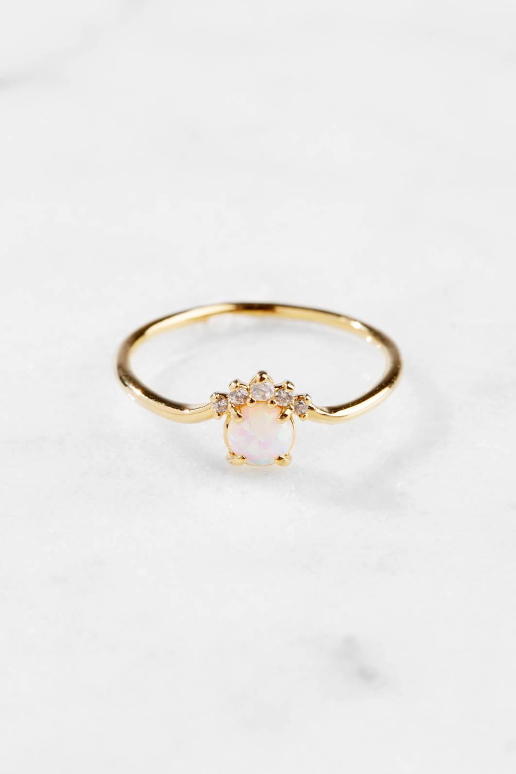 Tai Jewelry Labradorite Adjustable Open Ring Gold D5URrDA