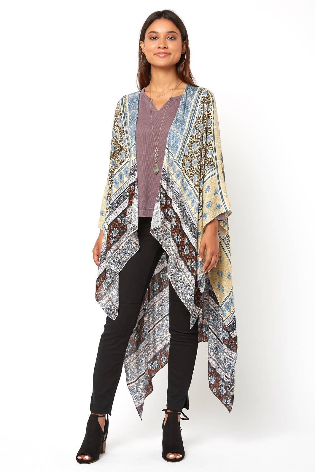 bc68350004632 Lyst - South Moon Under Floral Patchwork Duster Kimono in Blue