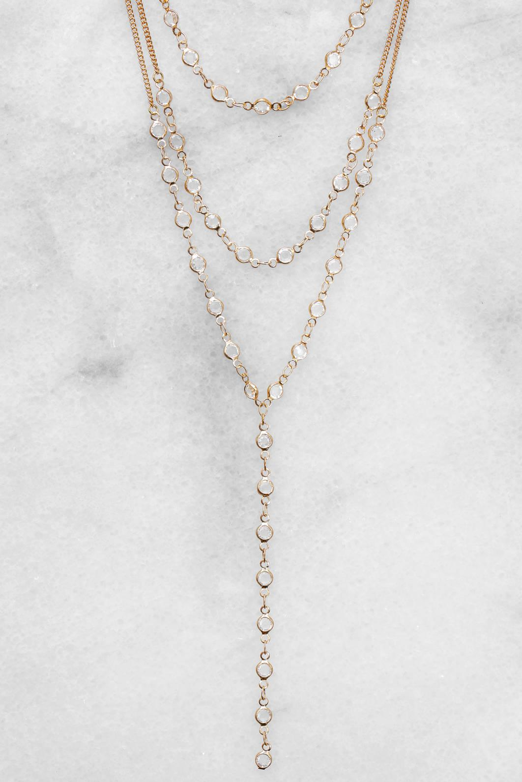 South Moon Under Pearly Y Necklace Gold bvl5uJRxv5