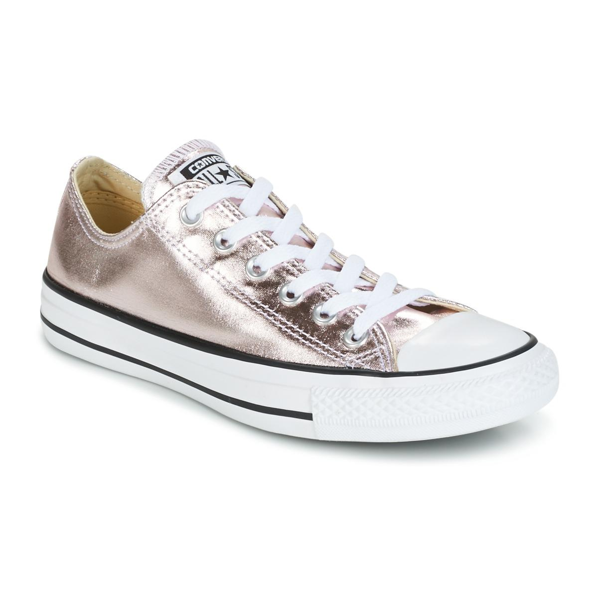 569e97060dd2 Converse Chuck Taylor All Star Metallic Canvas Ox Rose Quartz white ...